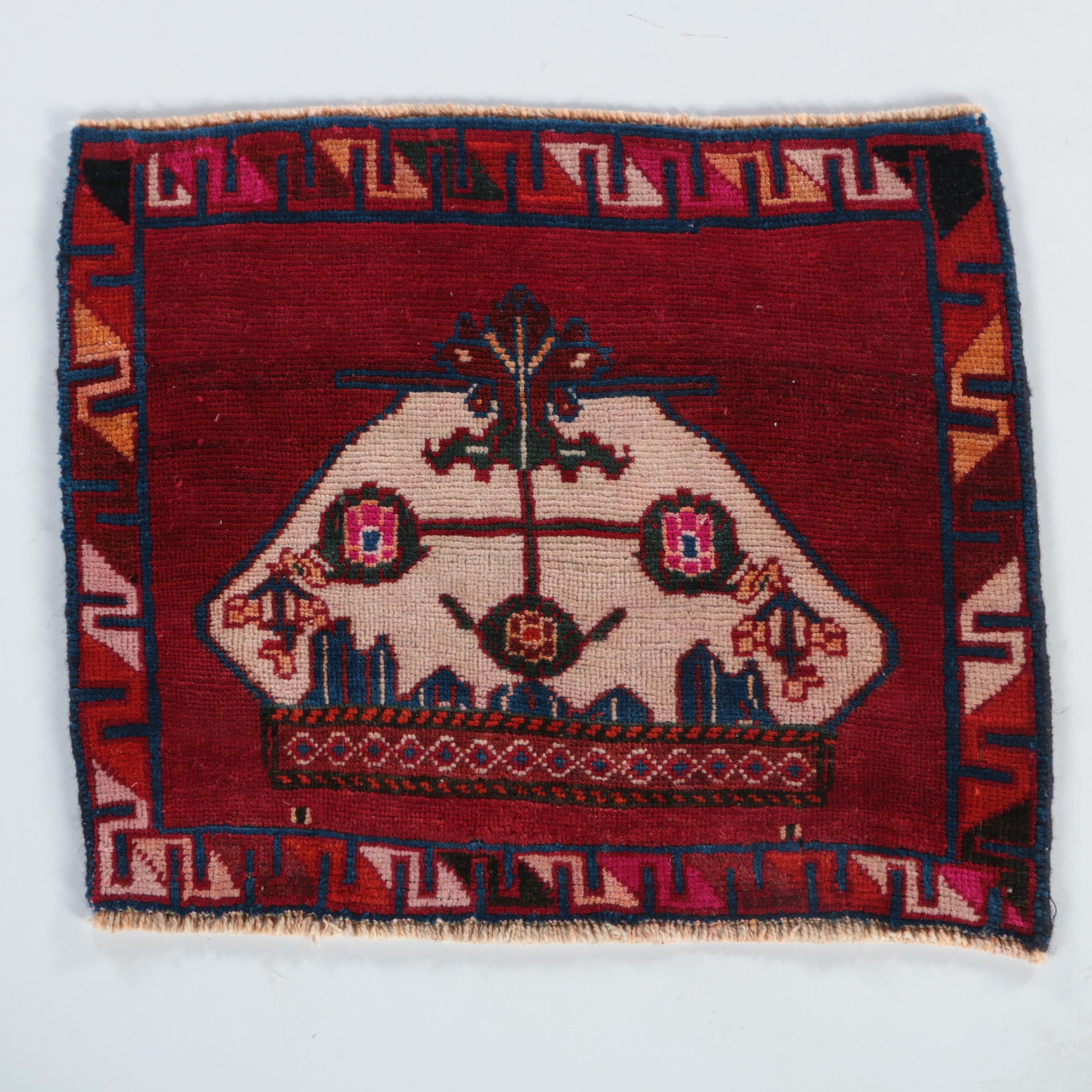 Hand-Knotted Central Asian Accent Rug