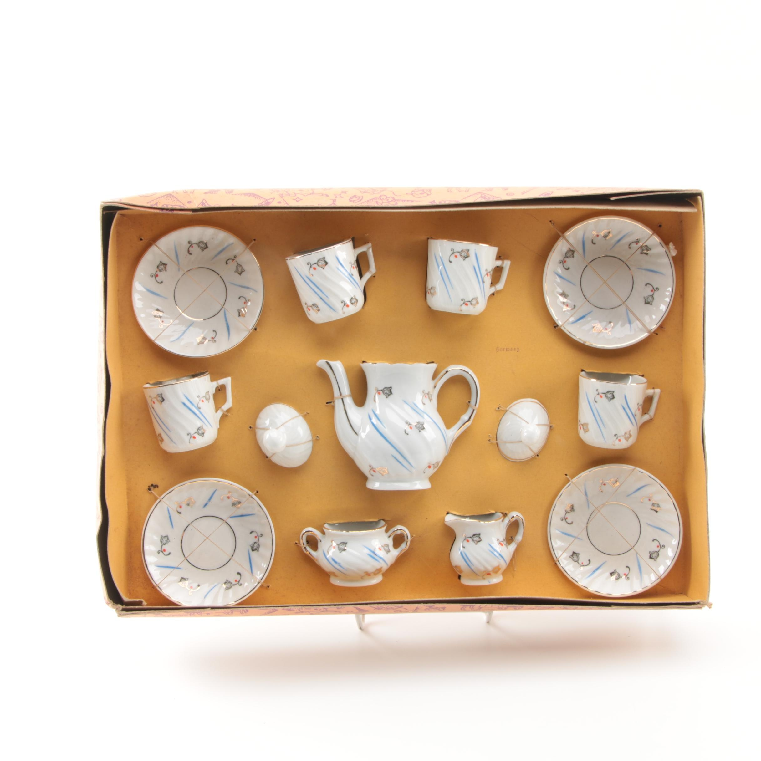 Miniature Porcelain Tea Set from Germany