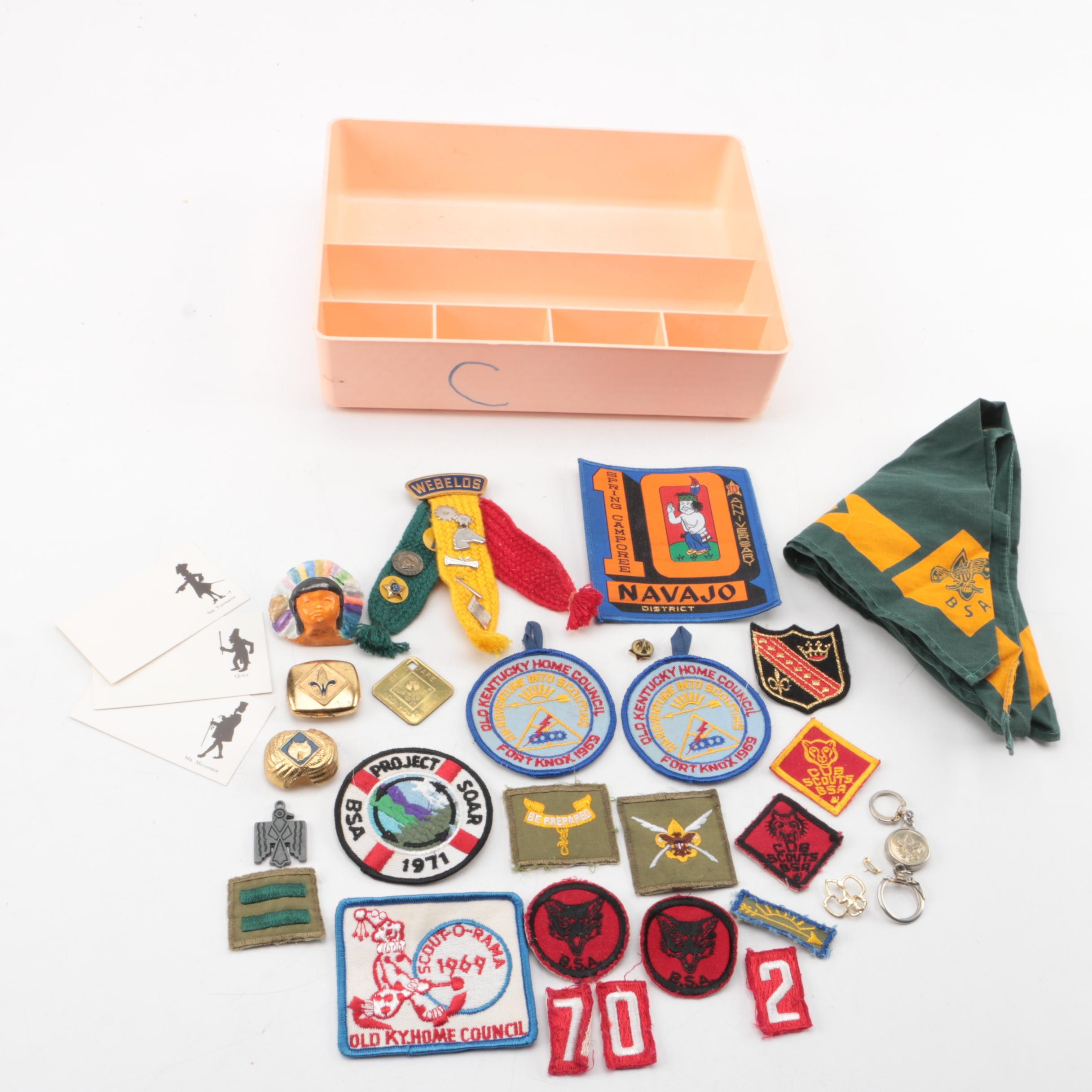 Vintage Cub Scout and Boy Scout Patches, Pins, and Memorabilia