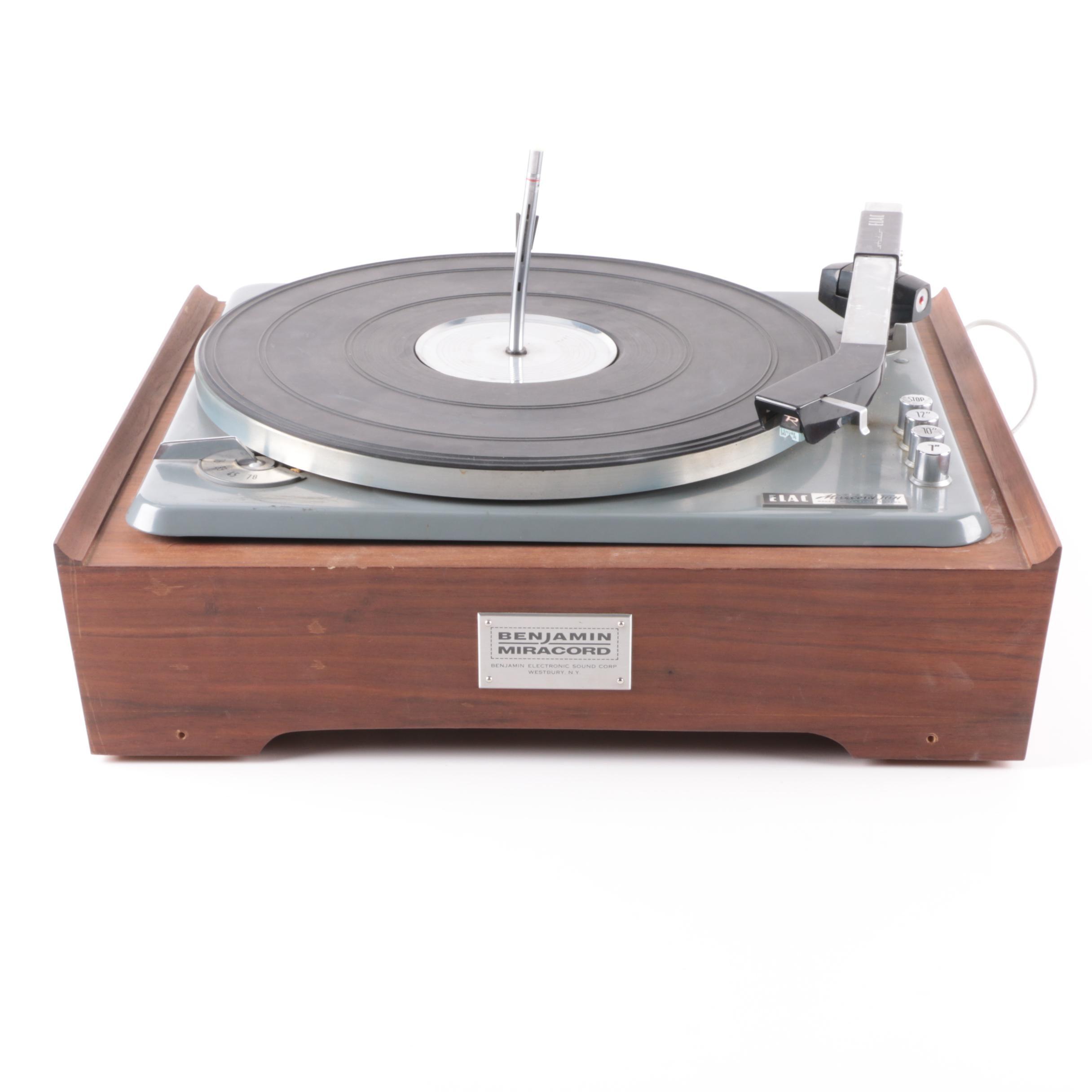 Vintage Benjamin ELAC Miracord 10H Turntable