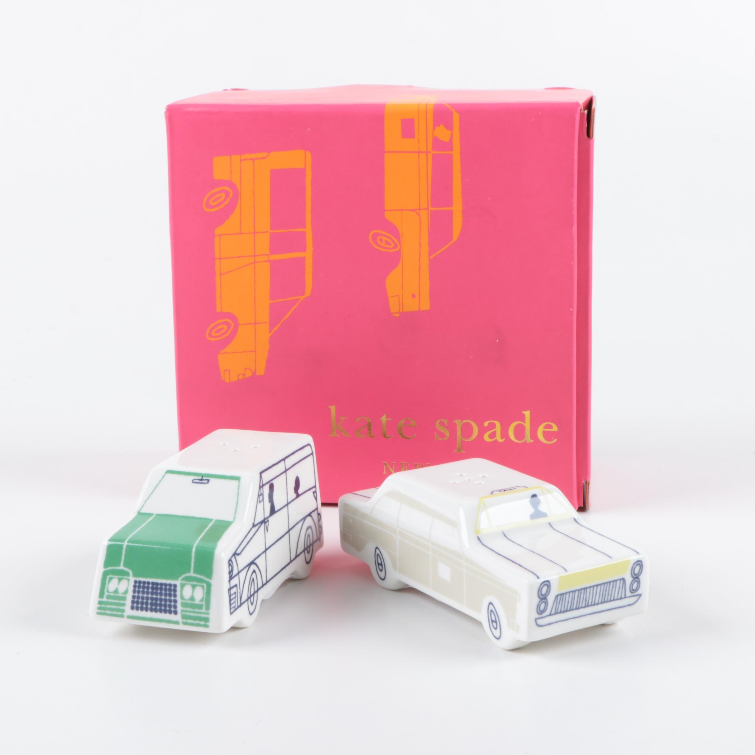 """Kate Spade for Lenox """"Hopscotch Drive"""" Porcelain Condiment Shakers"""