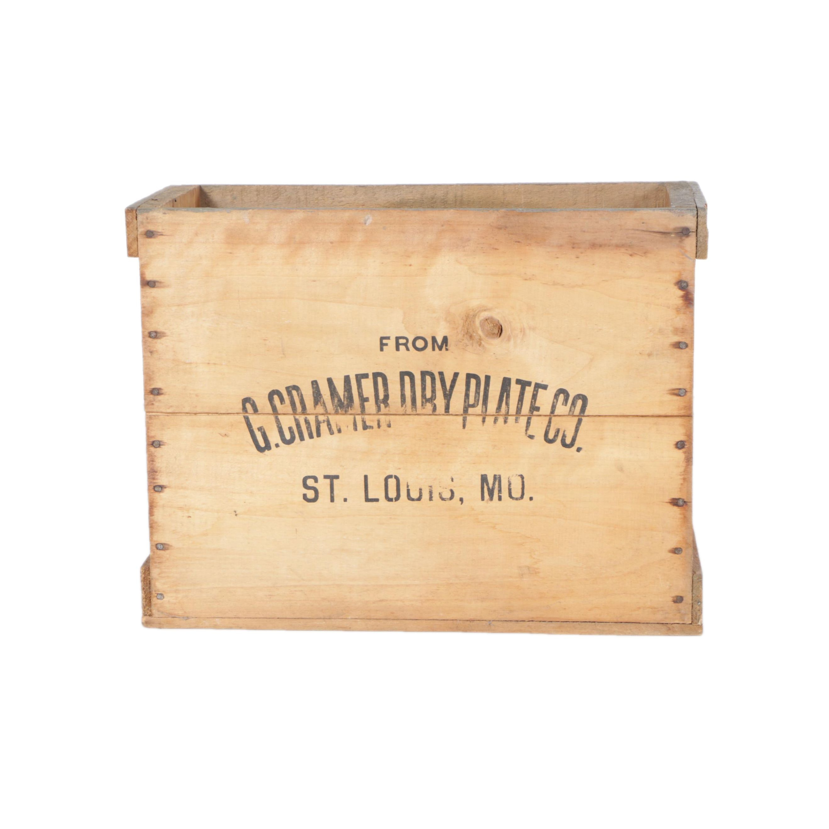 Antique Crate from Photography G. Cramer Dry Plate Co.