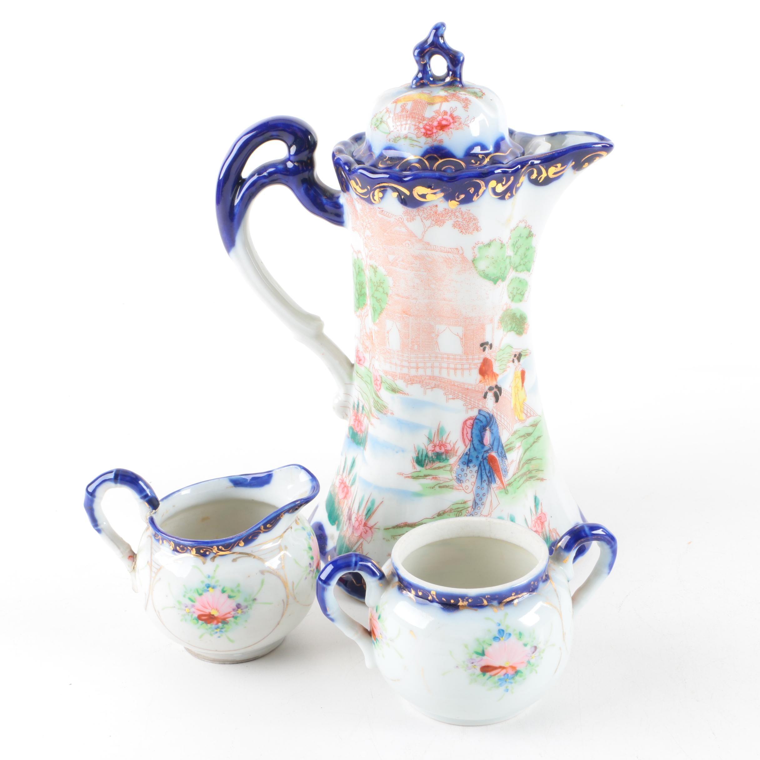 "Vintage Japanese ""Geisha Girl"" Porcelain Serveware"