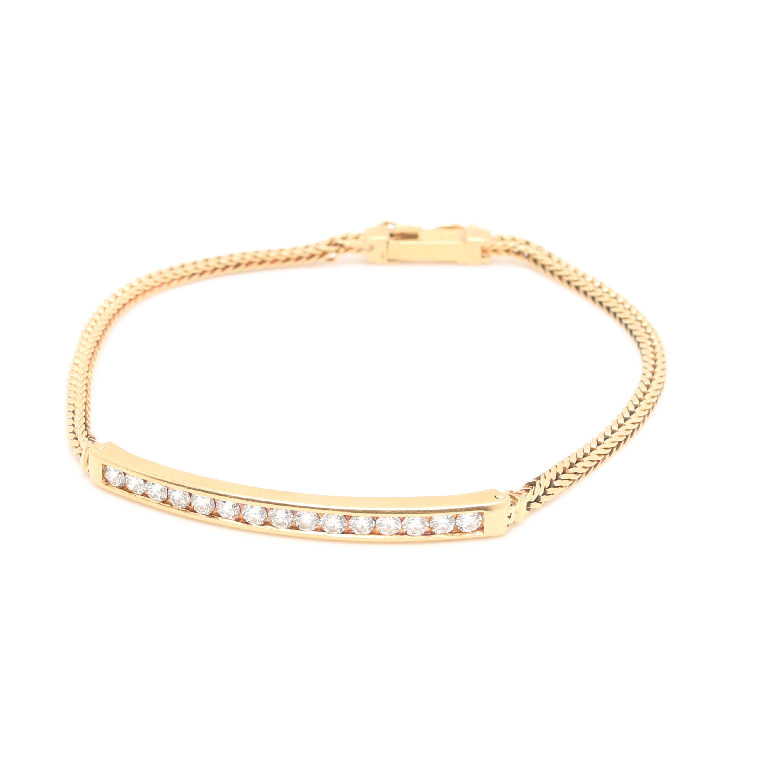 18K Yellow Gold 0.93 CTW Diamond Bracelet