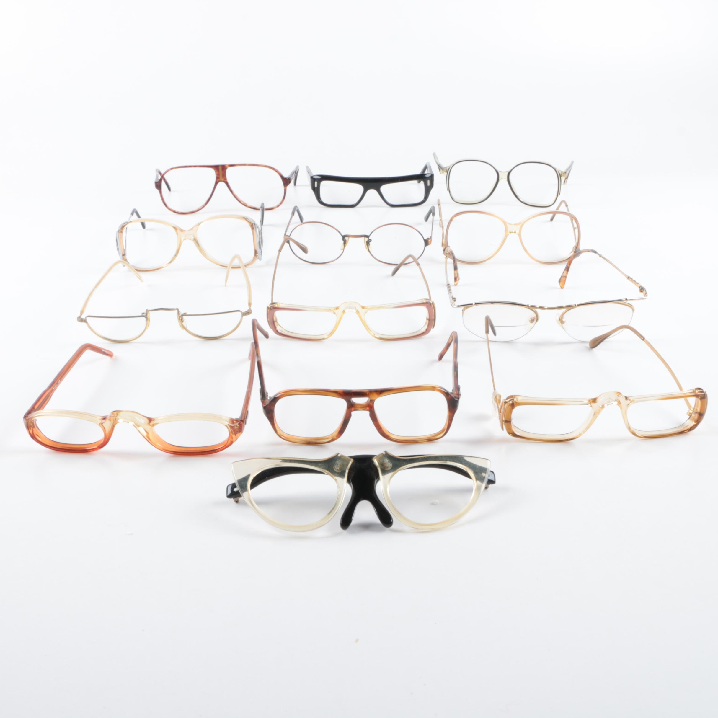 Vintage Eyeglass Frames Including Liberty and Le Star