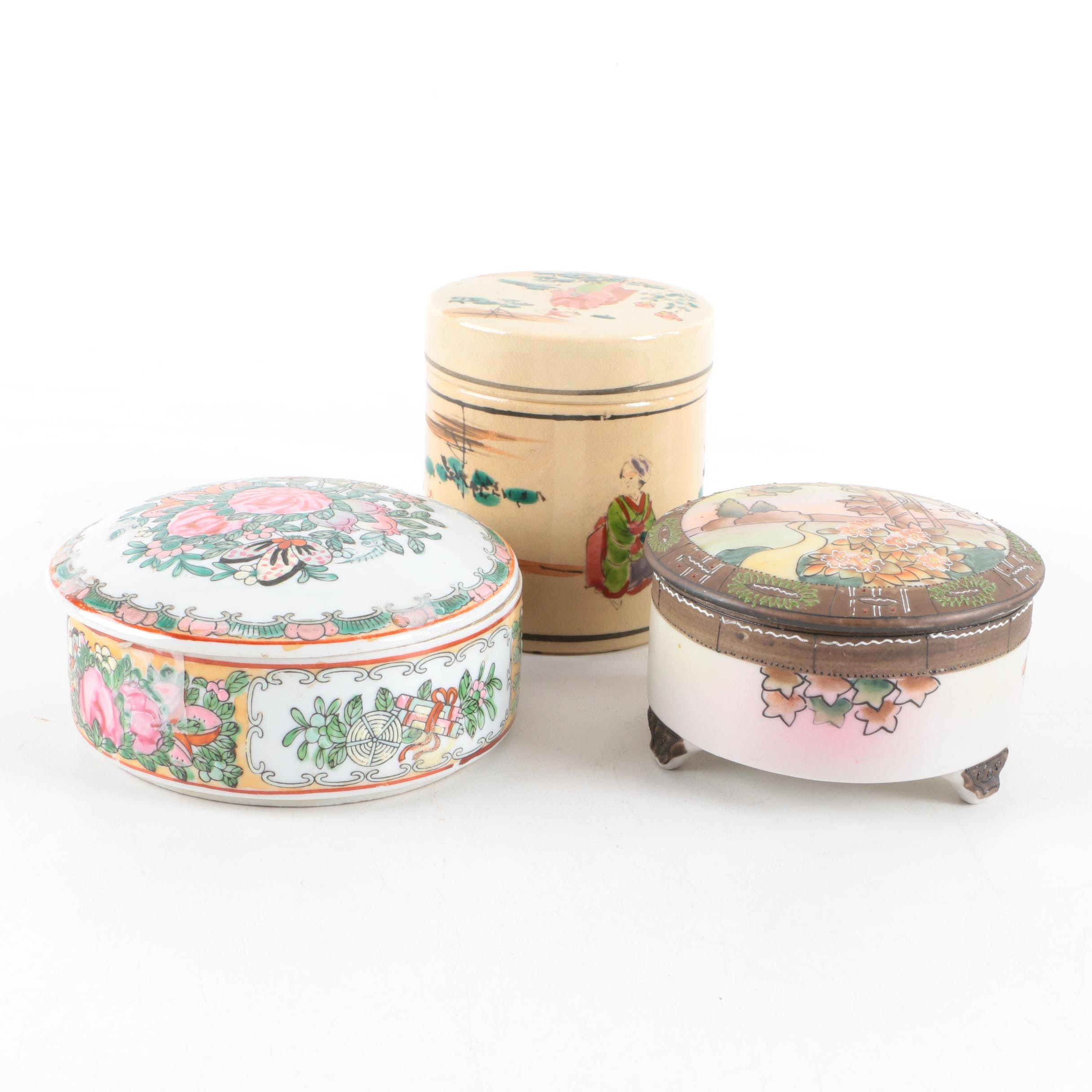 Chinese and Japanese Porcelain Tea and Vanity Jars