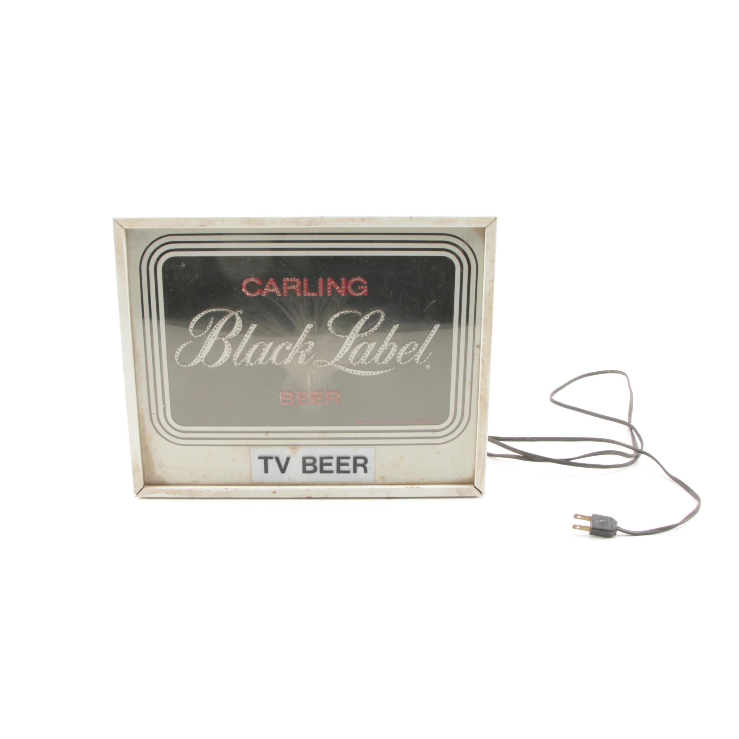 Lighted Carling Black Label Beer Sign