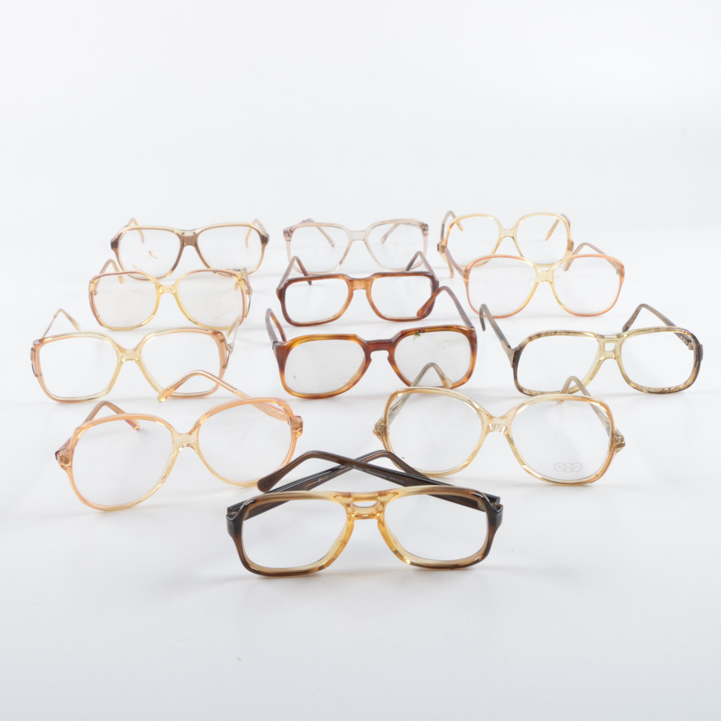 Vintage Eyeglass Frames Including Oscar de la Renta Art-Craft