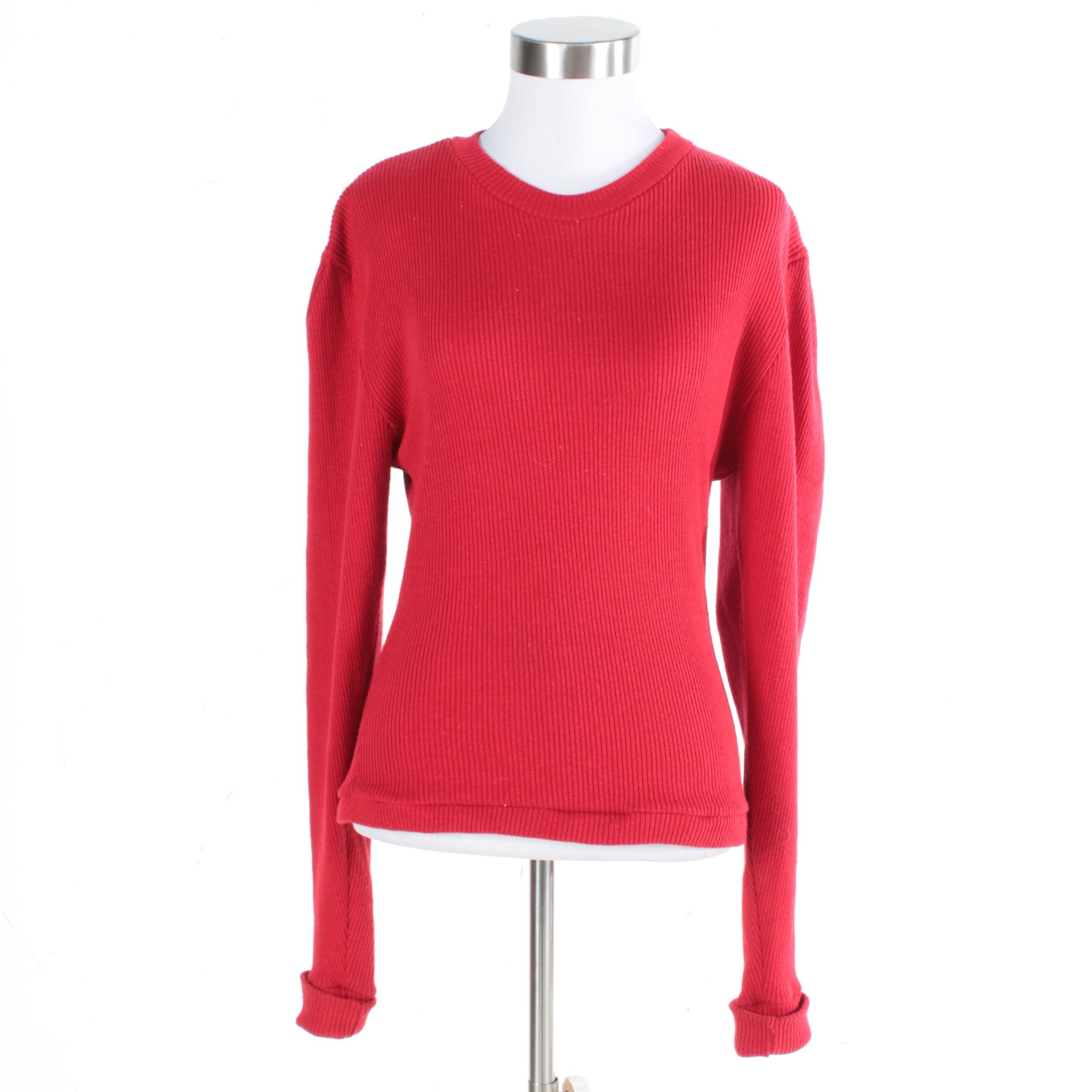 Norma Kamali Red Sweater