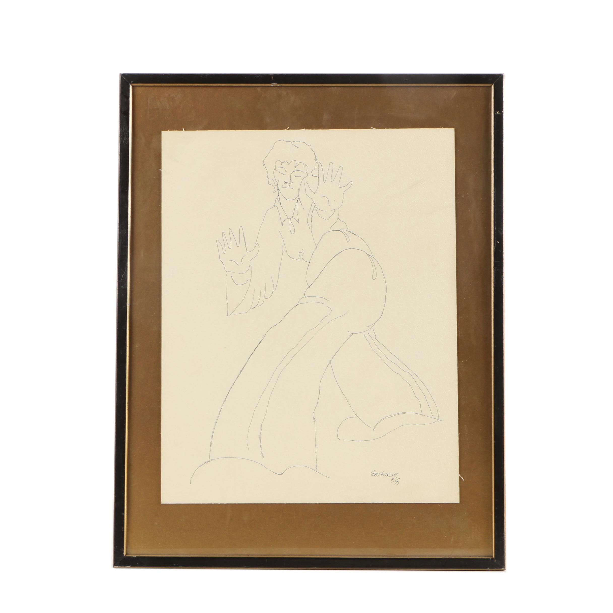 1971 Gaither Ink Drawing
