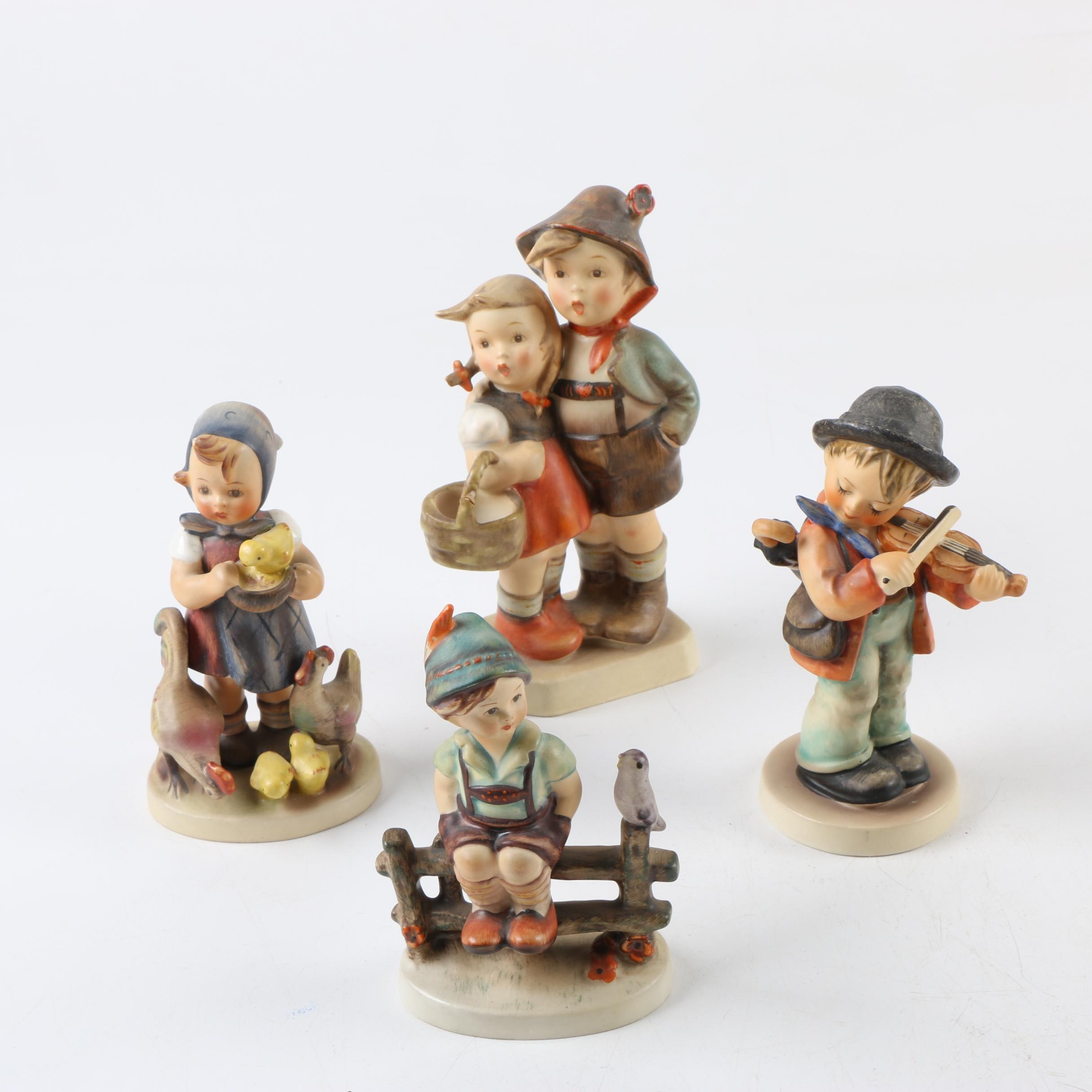 Vintage Goebel M.I. Hummel Hand Painted Porcelain Figurines