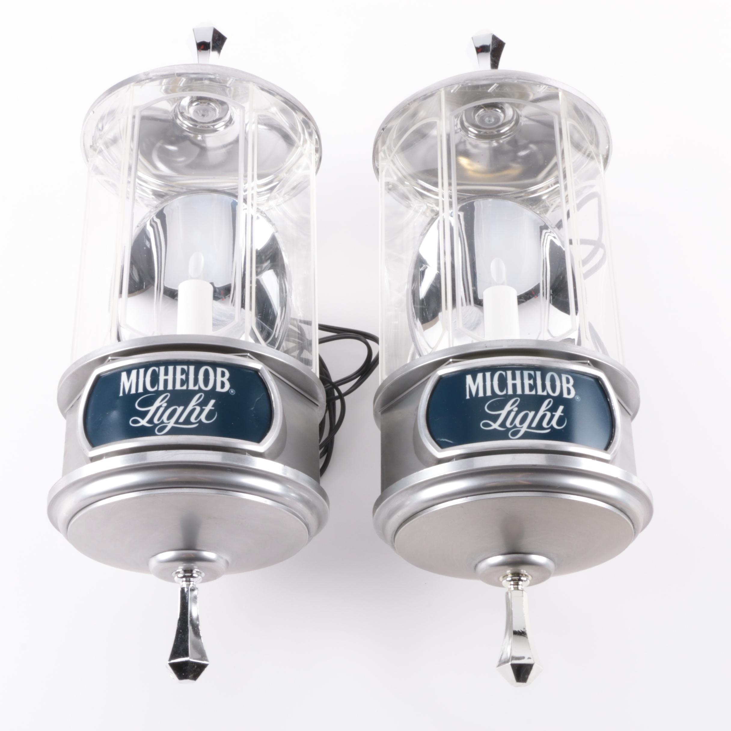 Vintage Michelob Light Beer Wall Light Fixtures