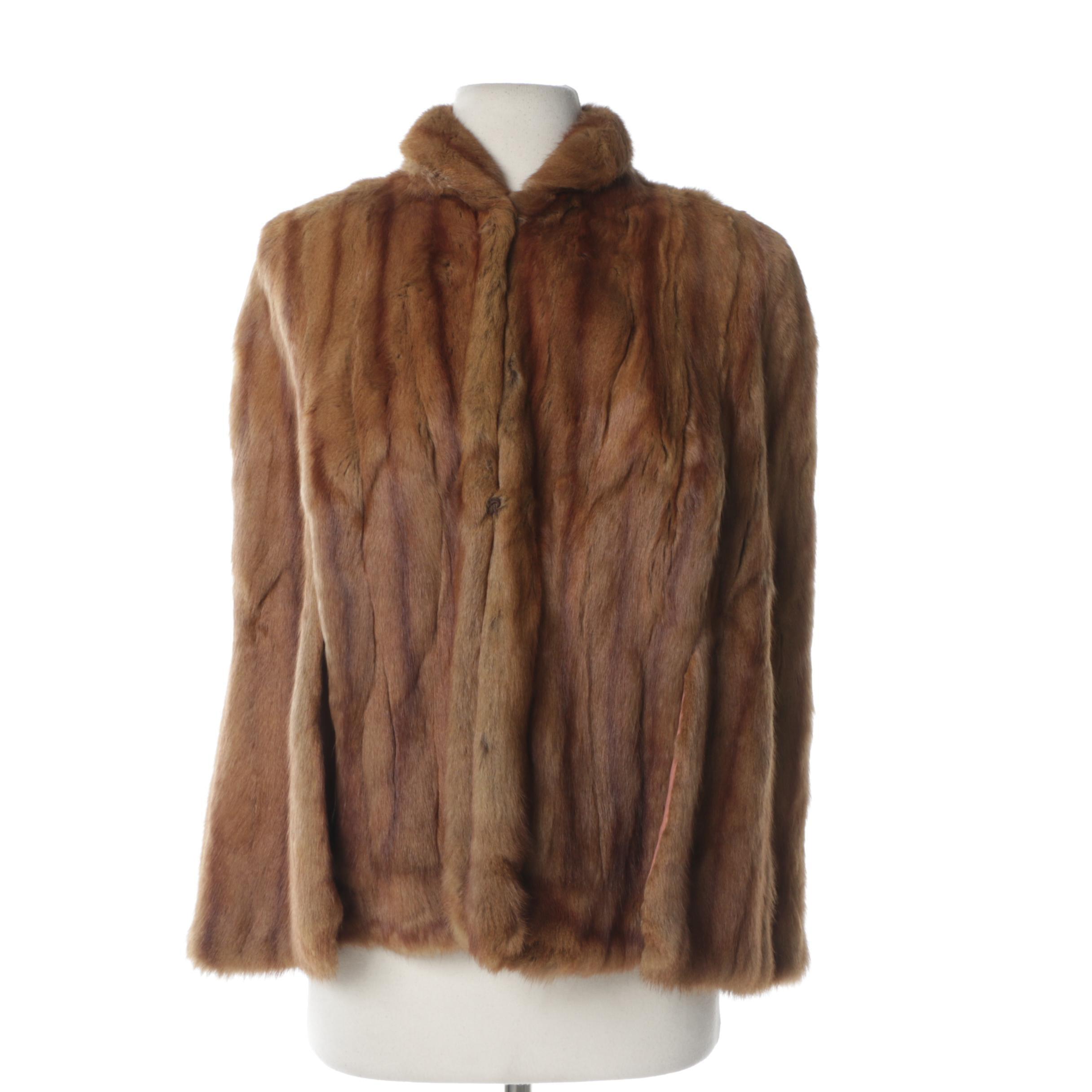 Women's Vintage Smart Shop Squirrel Fur Stole