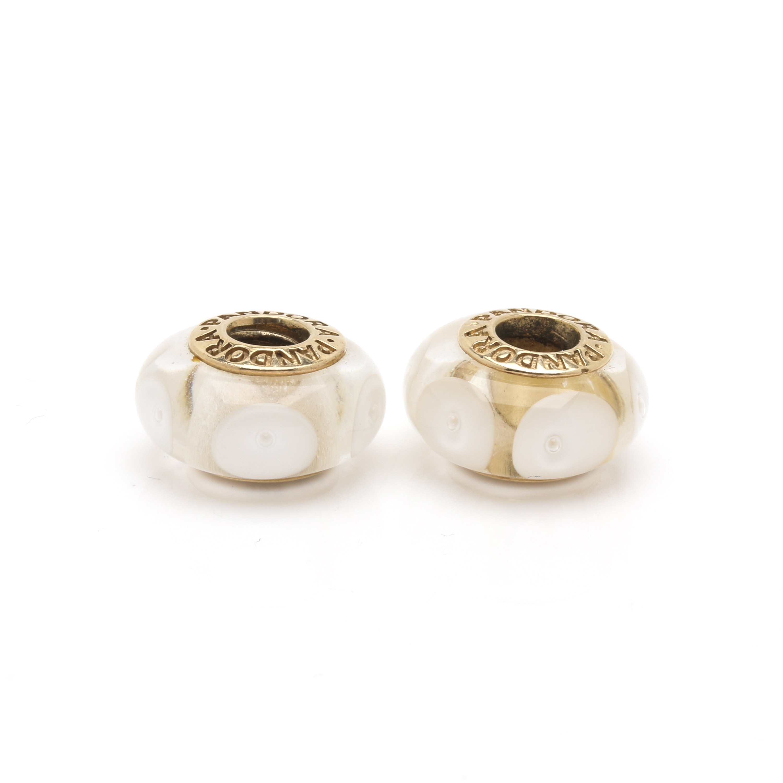 Pandora 14K Yellow Gold Glass Bead Charms