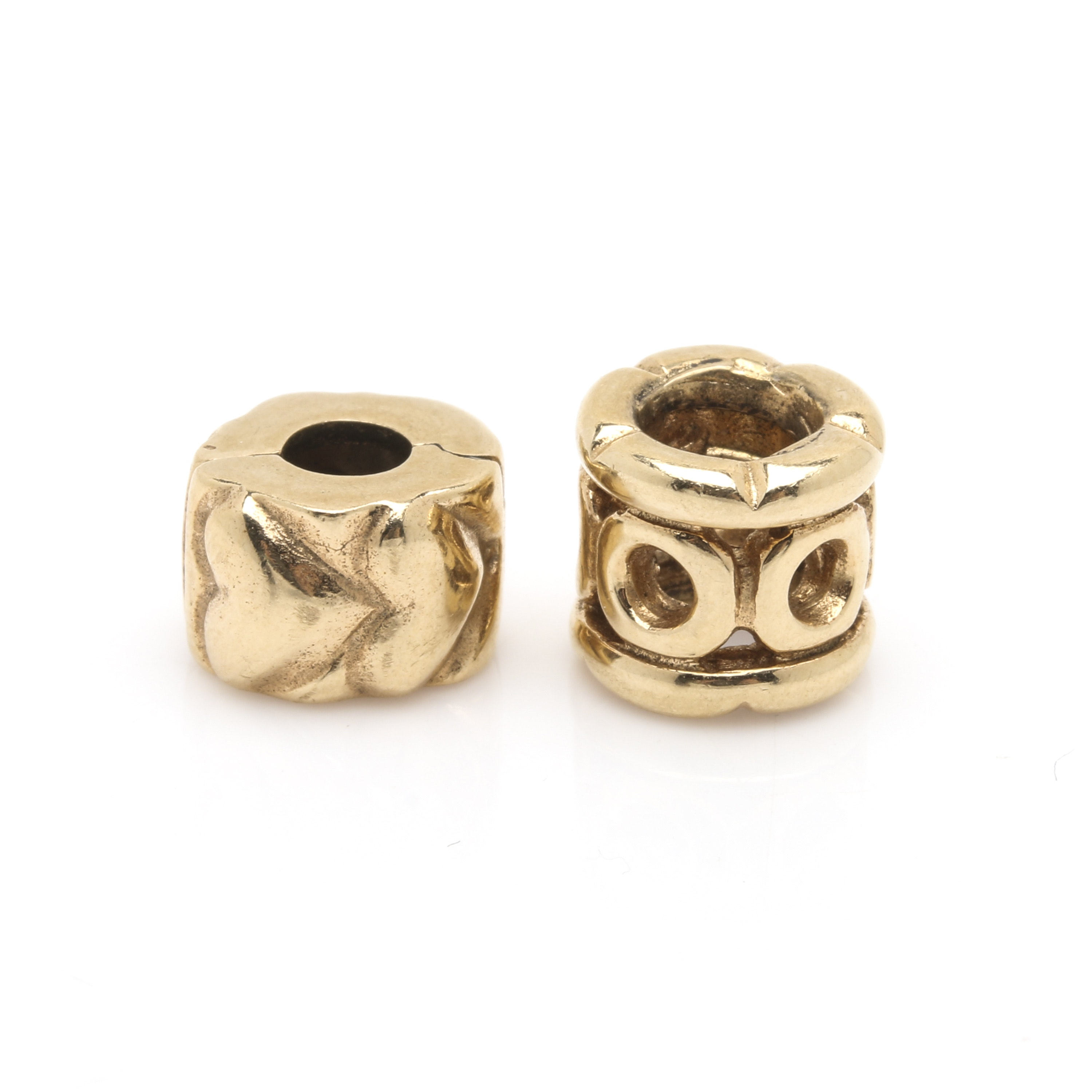 Pandora 14K Yellow Gold Bead and Stopper Clip