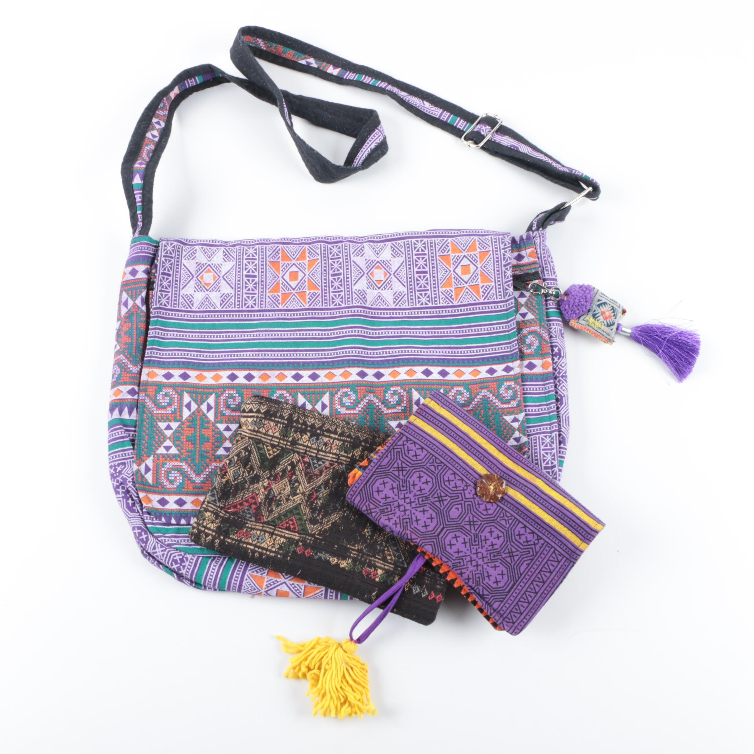 Woven Canvas and Tapestry Handbags and Pouches