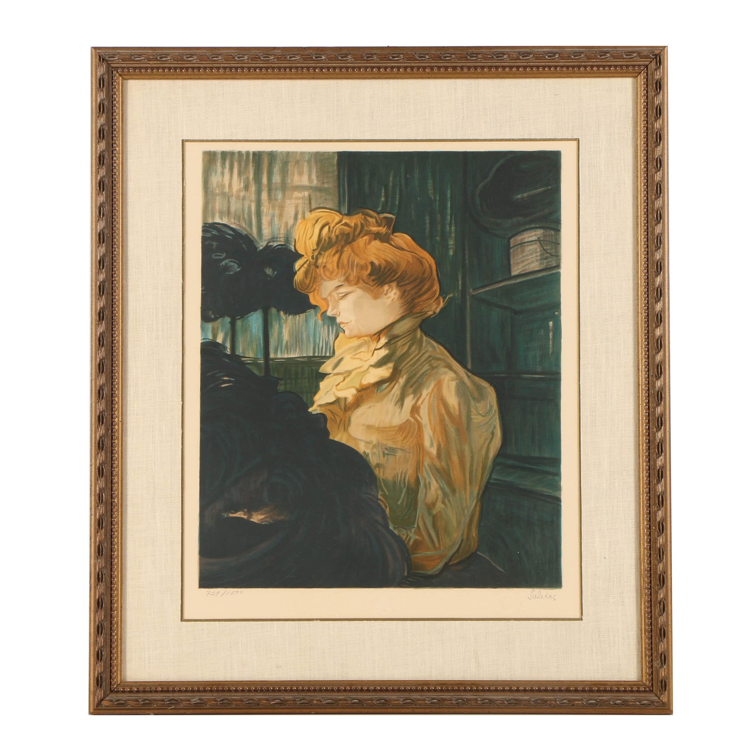 """Lithograph """"La Modiste"""" After Henri Marie Raymond Toulouse-Lautrec"""