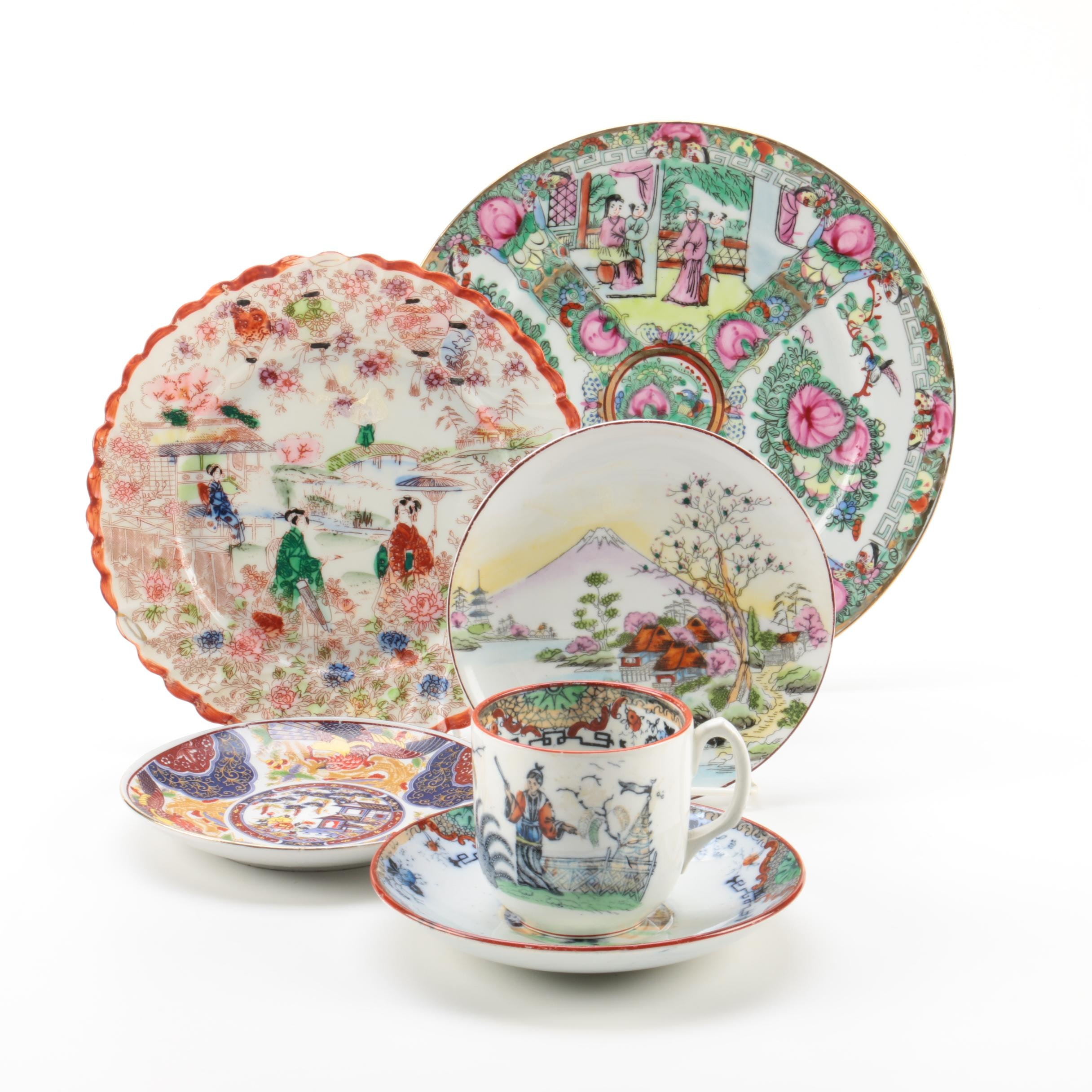 Vintage and Antique French and East Asian Tableware