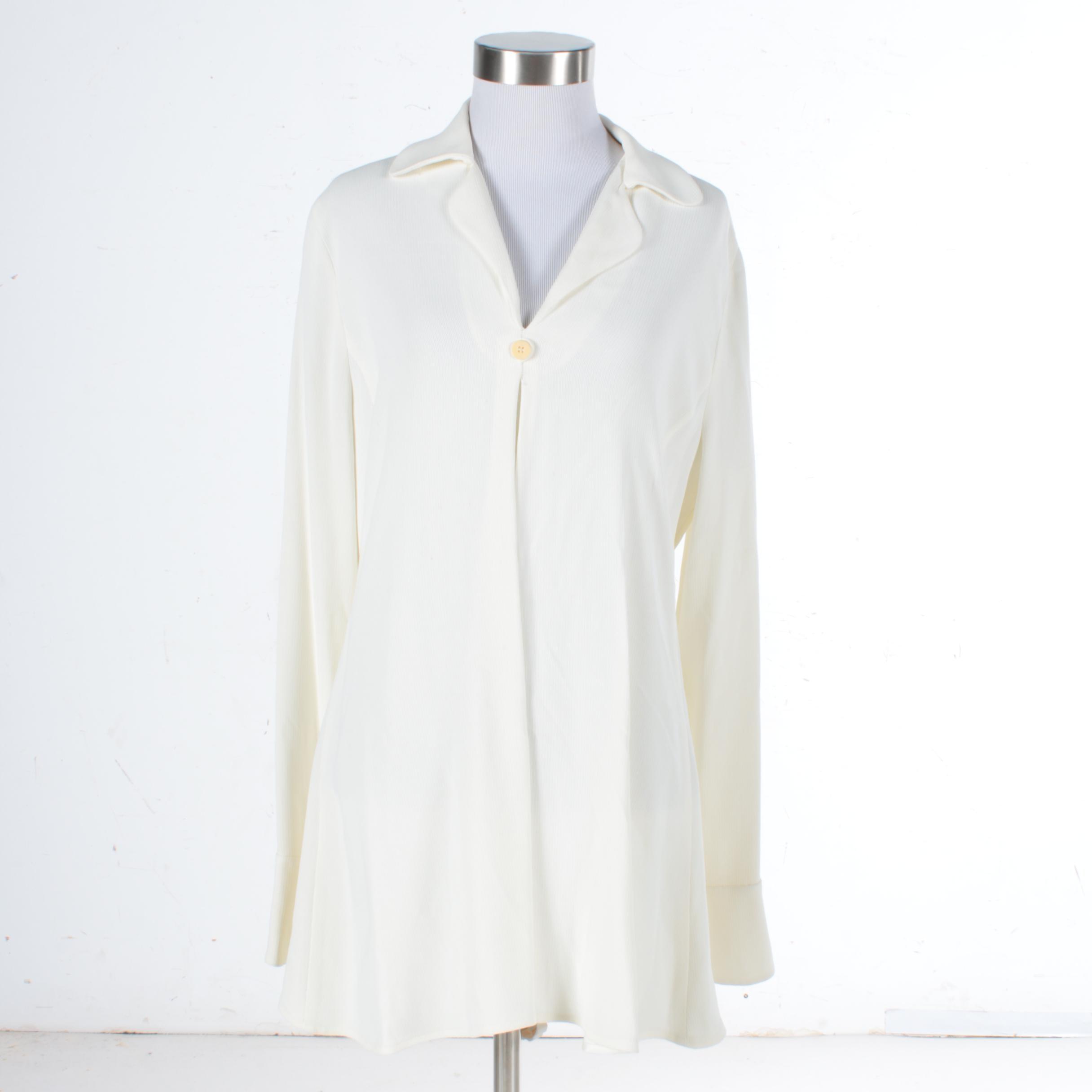 Giorgio Armani Cream Dress Shirt