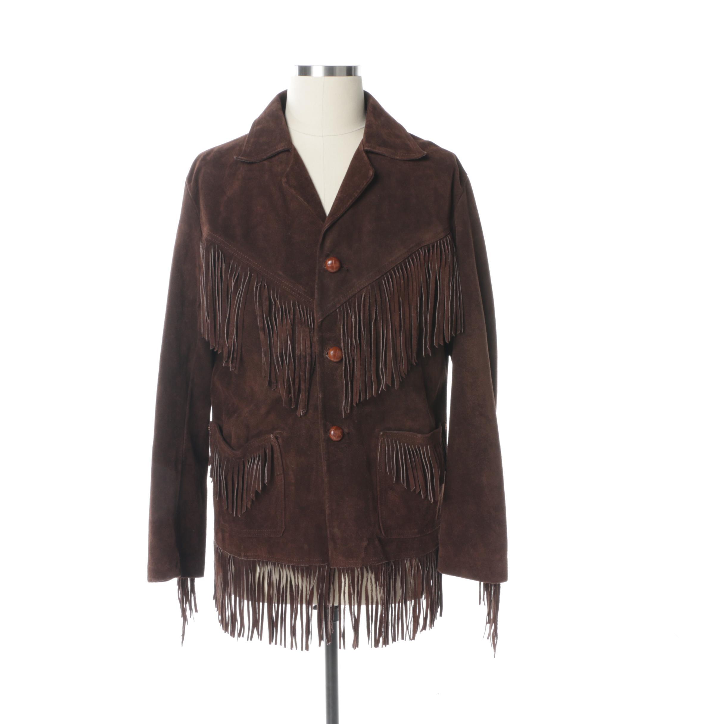 Men's Vintage Brown Suede Jacket