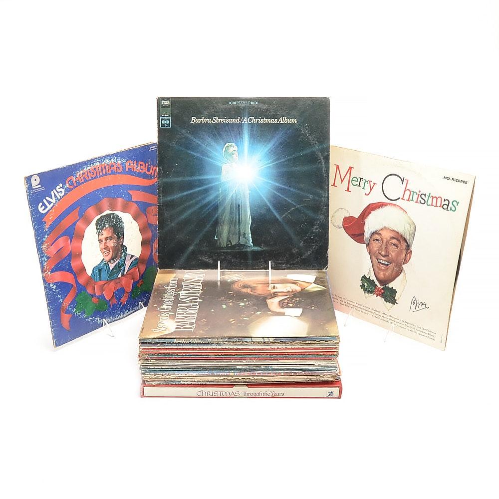 Vintage Christmas Vinyl LPs