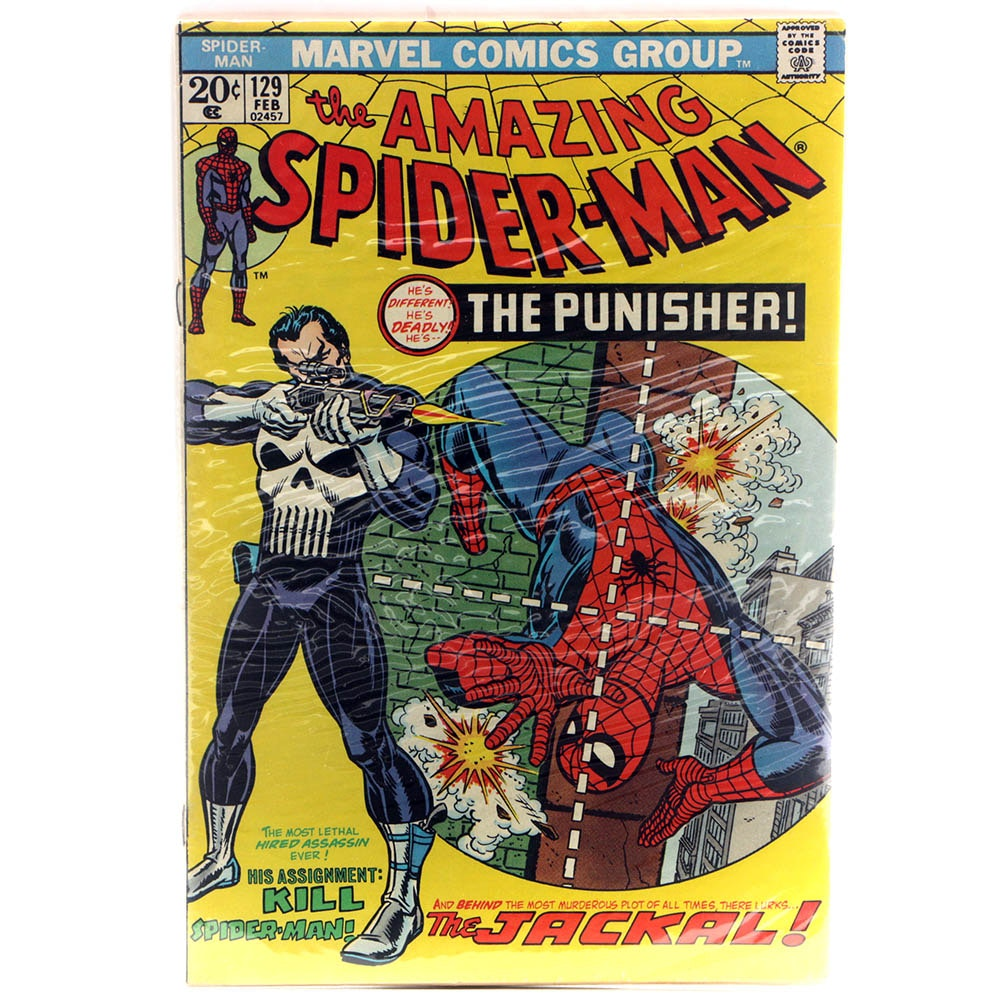 """1974 """"The Amazing Spider-Man"""" Issue #129 With First Punisher Appearance"""