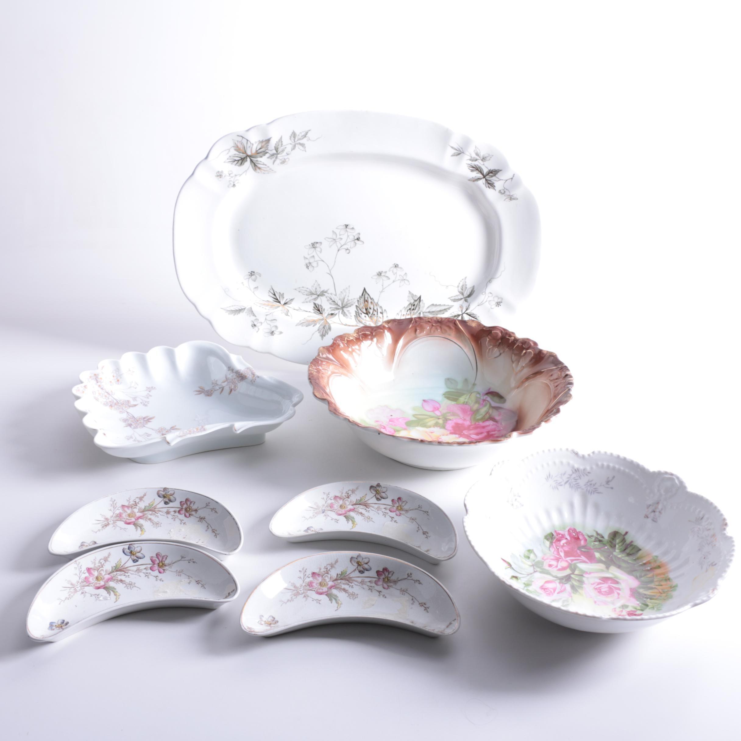 "Tableware Featuring John Edwards ""Virginia"" Platter Circa 1892"
