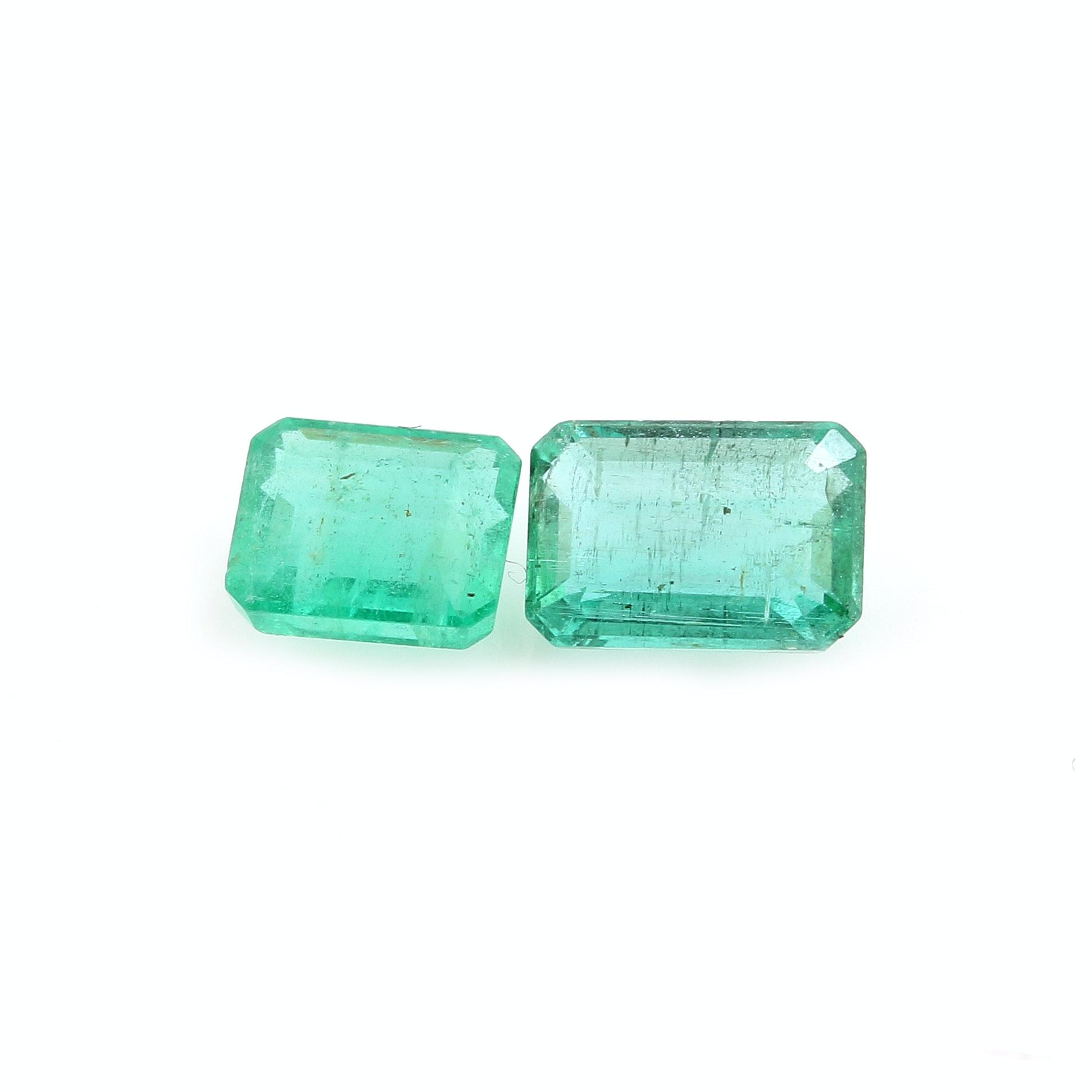Pair of Loose 1.32 CTW Emeralds