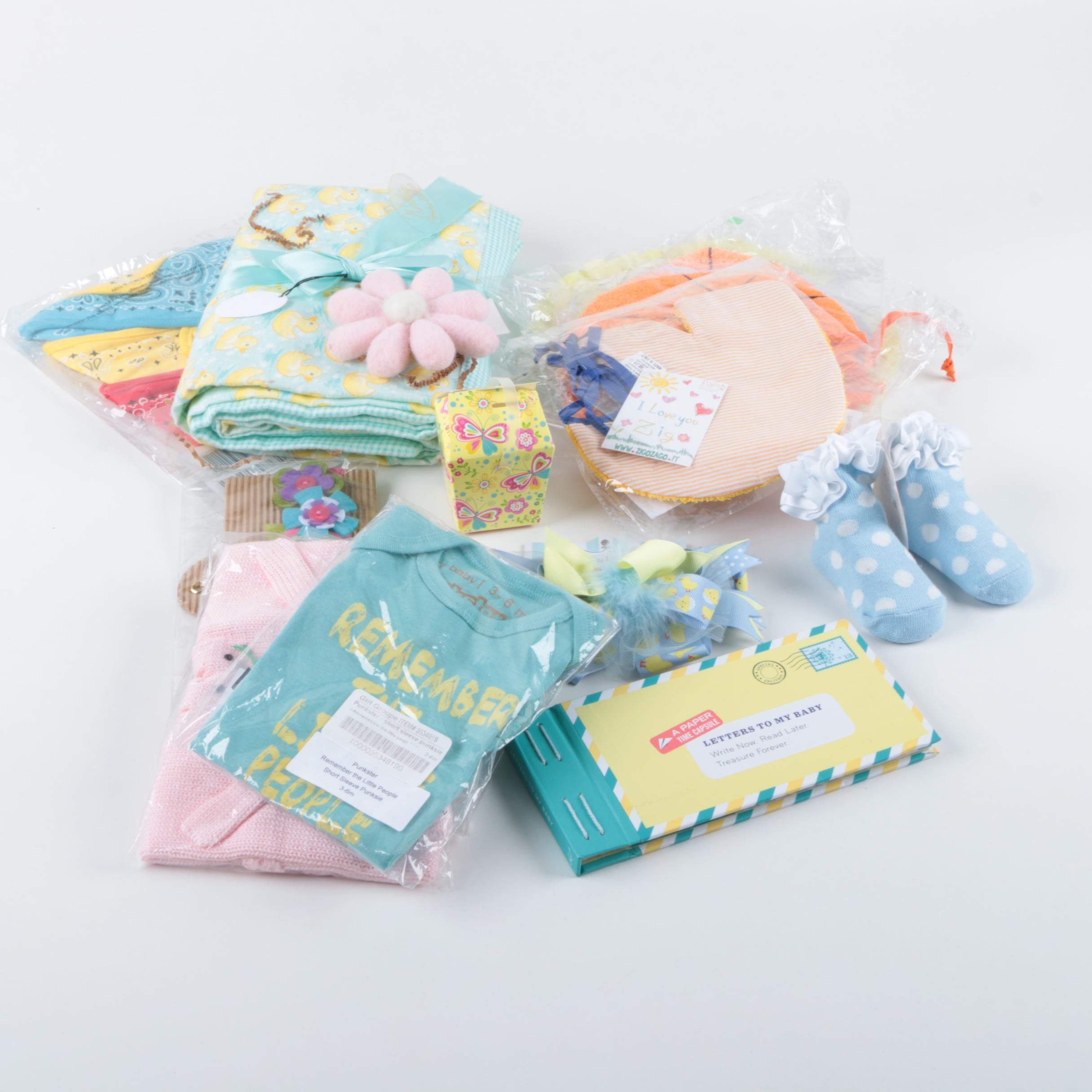 Infant Bibs, Clothes, Blanket and Accessories