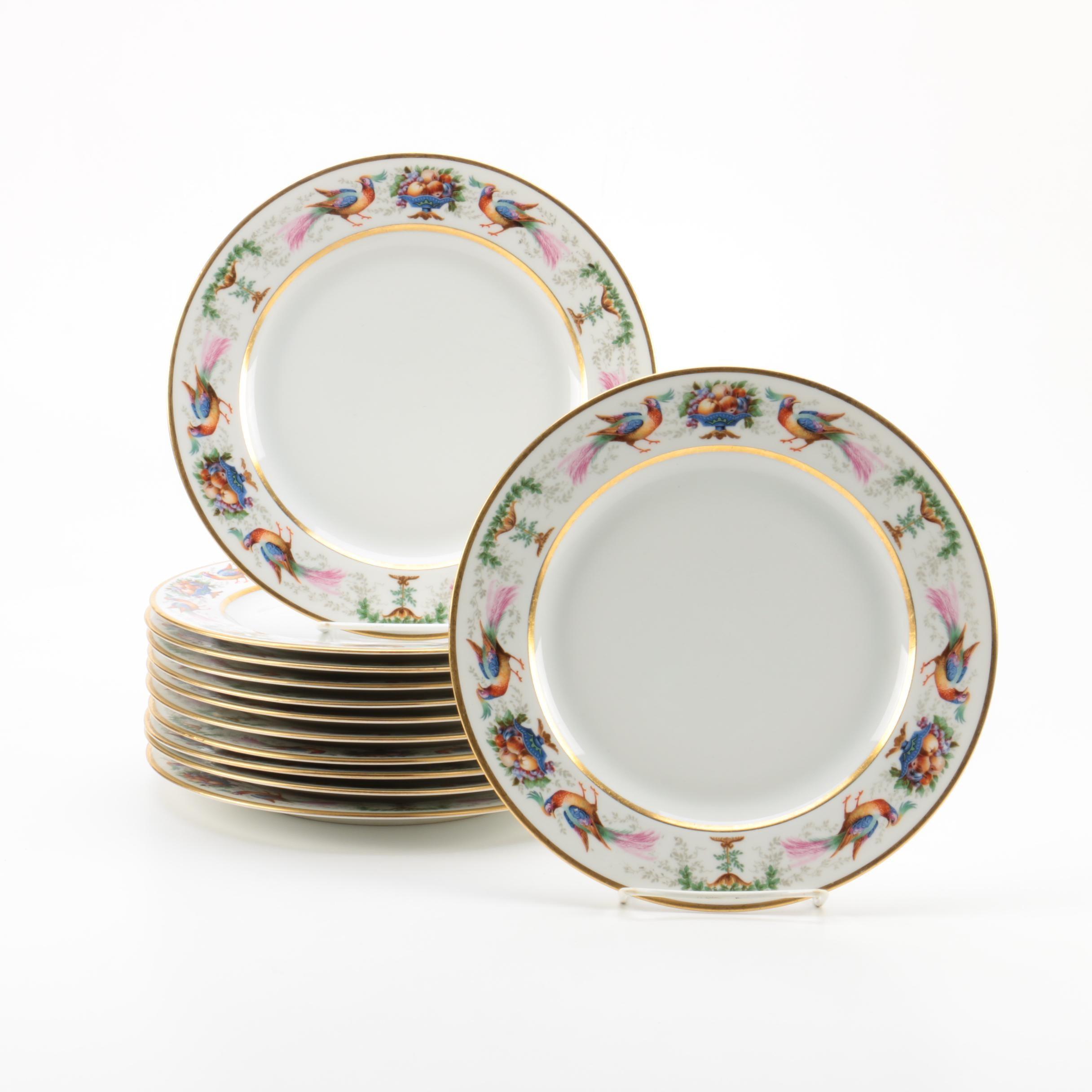 Vintage Hutschenreuther Porcelain Luncheon Plates