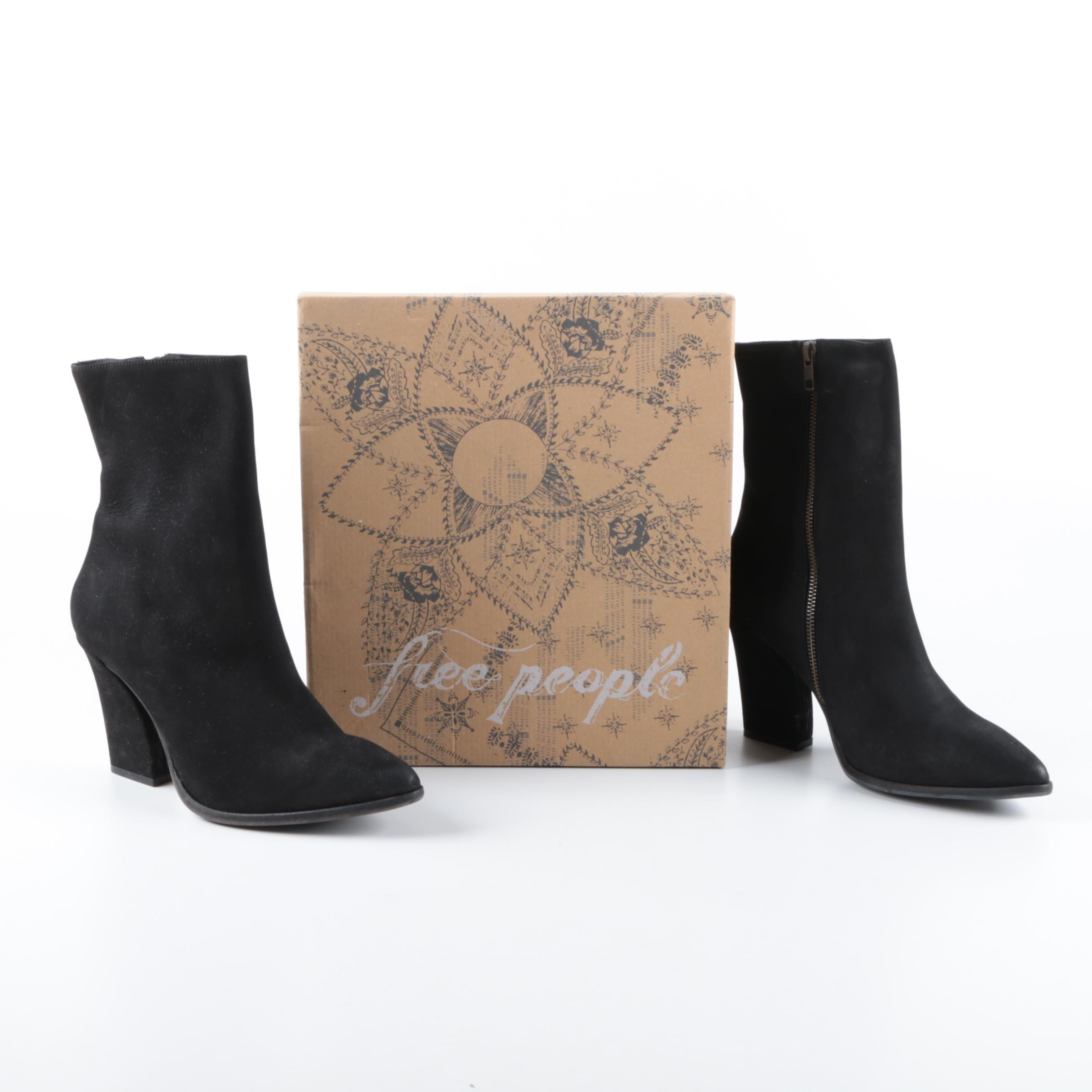Free People Mystic Charms Black Suede Boots