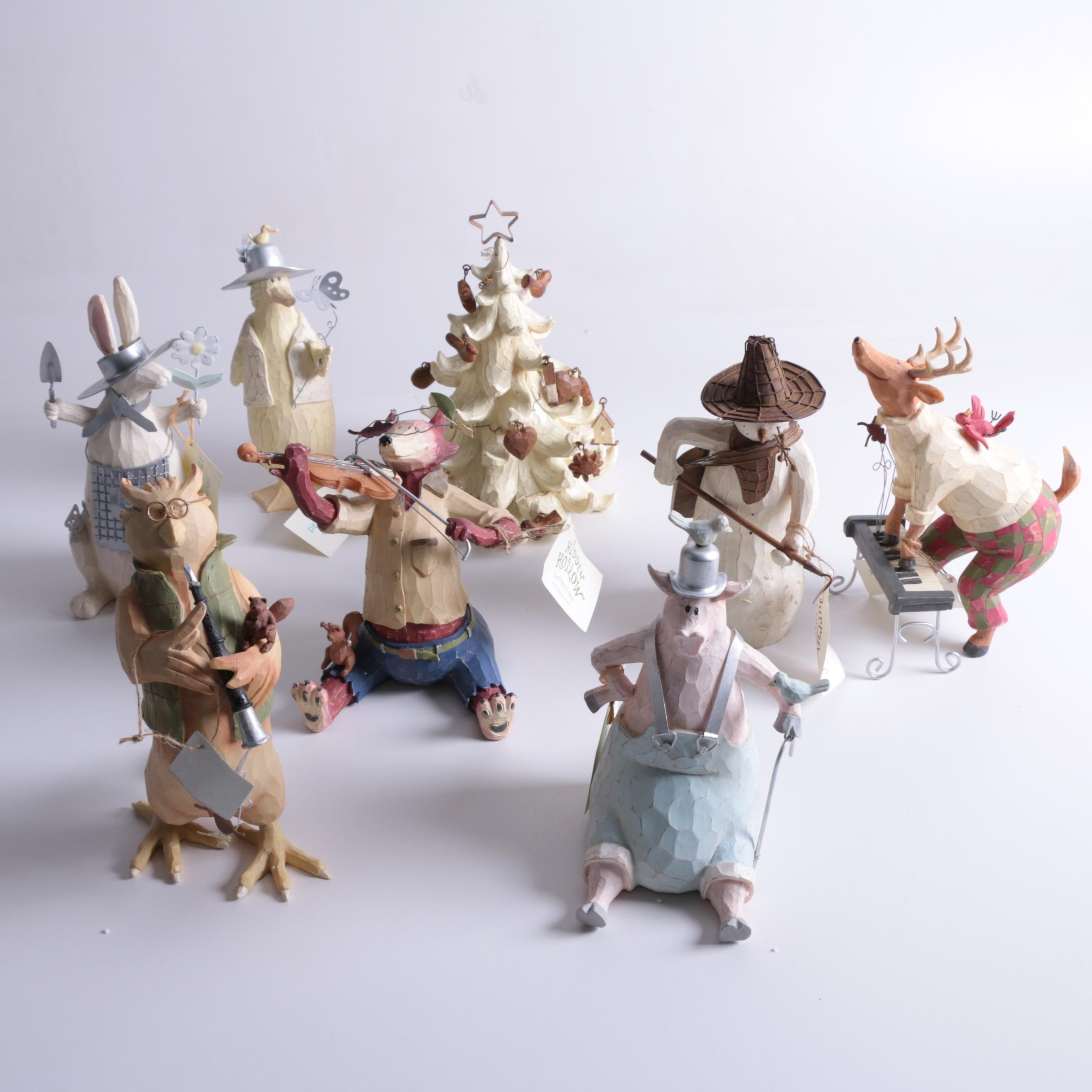 Hidden Hollow Resin Figurines