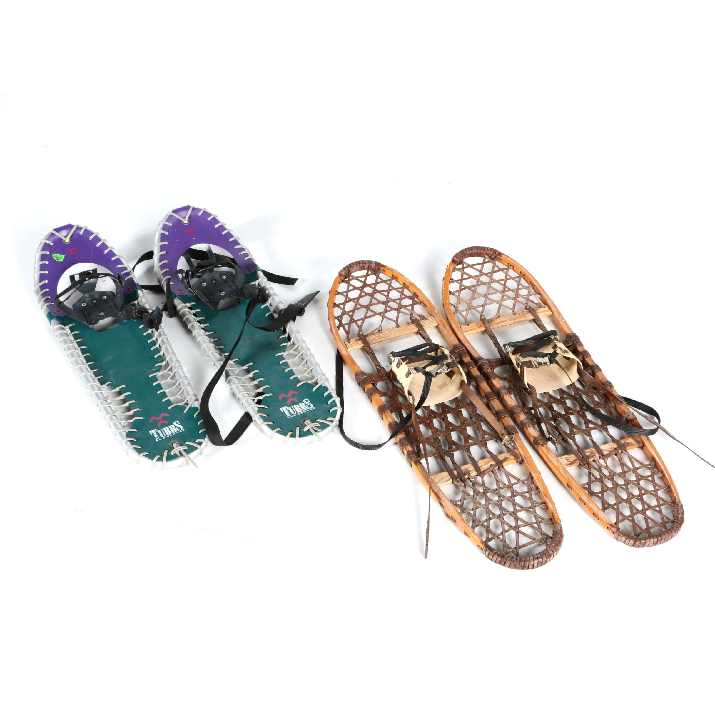 Two Pairs of Vintage Snowshoes