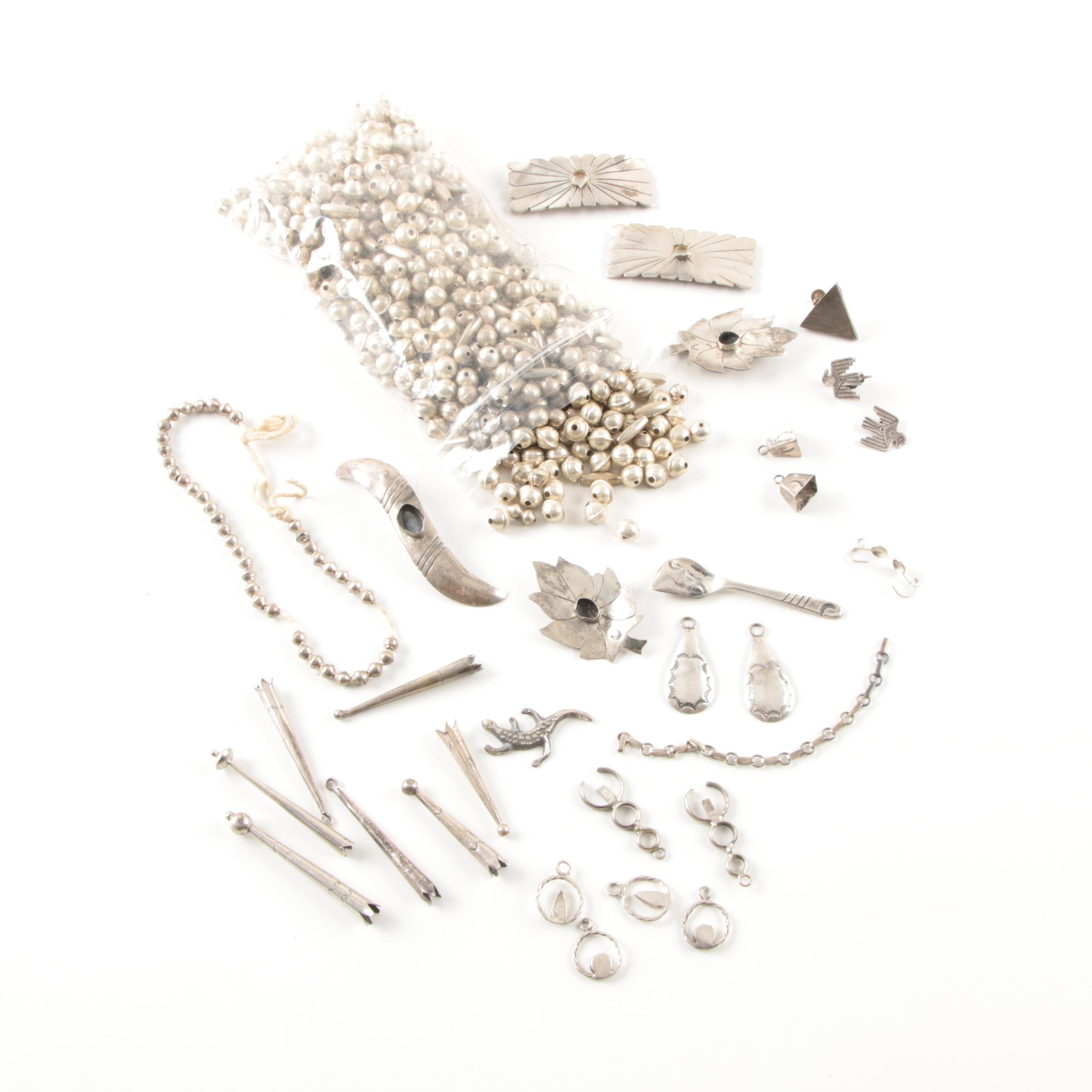 Sterling Silver Scrap Jewelry and Bench Beads