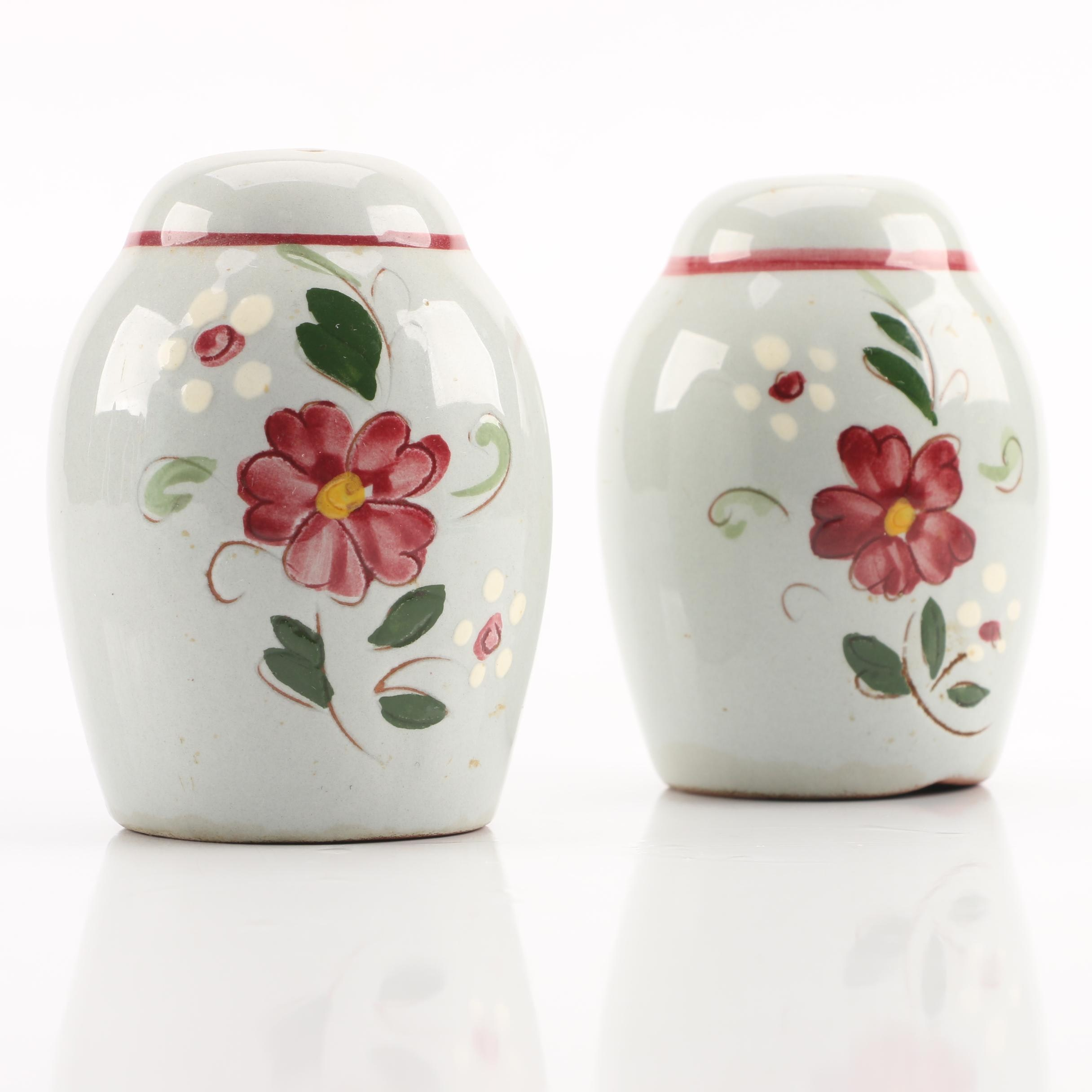 """Circa 1960s Stangl """"Garland"""" Salt and Pepper Shakers"""