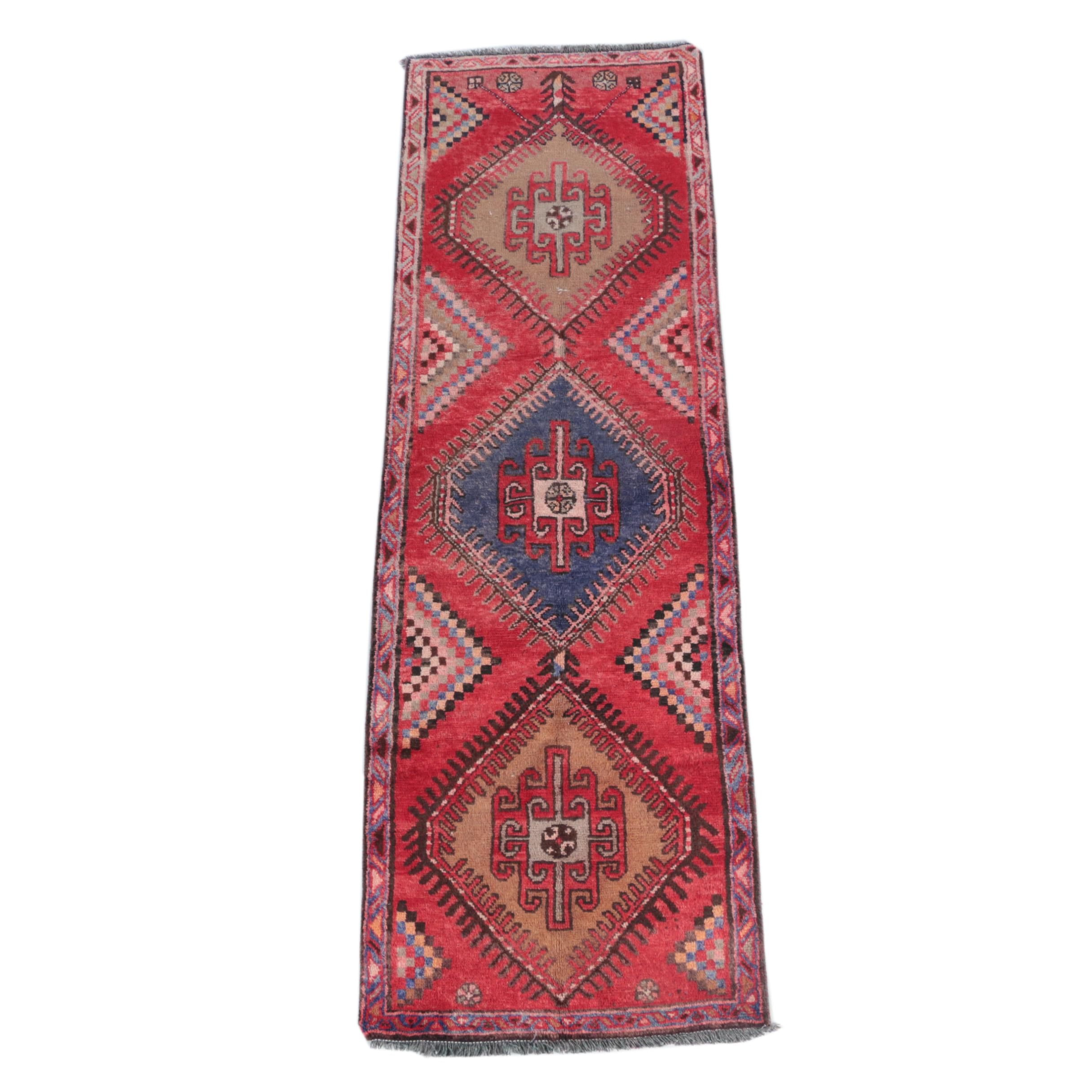 Hand-Knotted Central Asian Carpet Runner