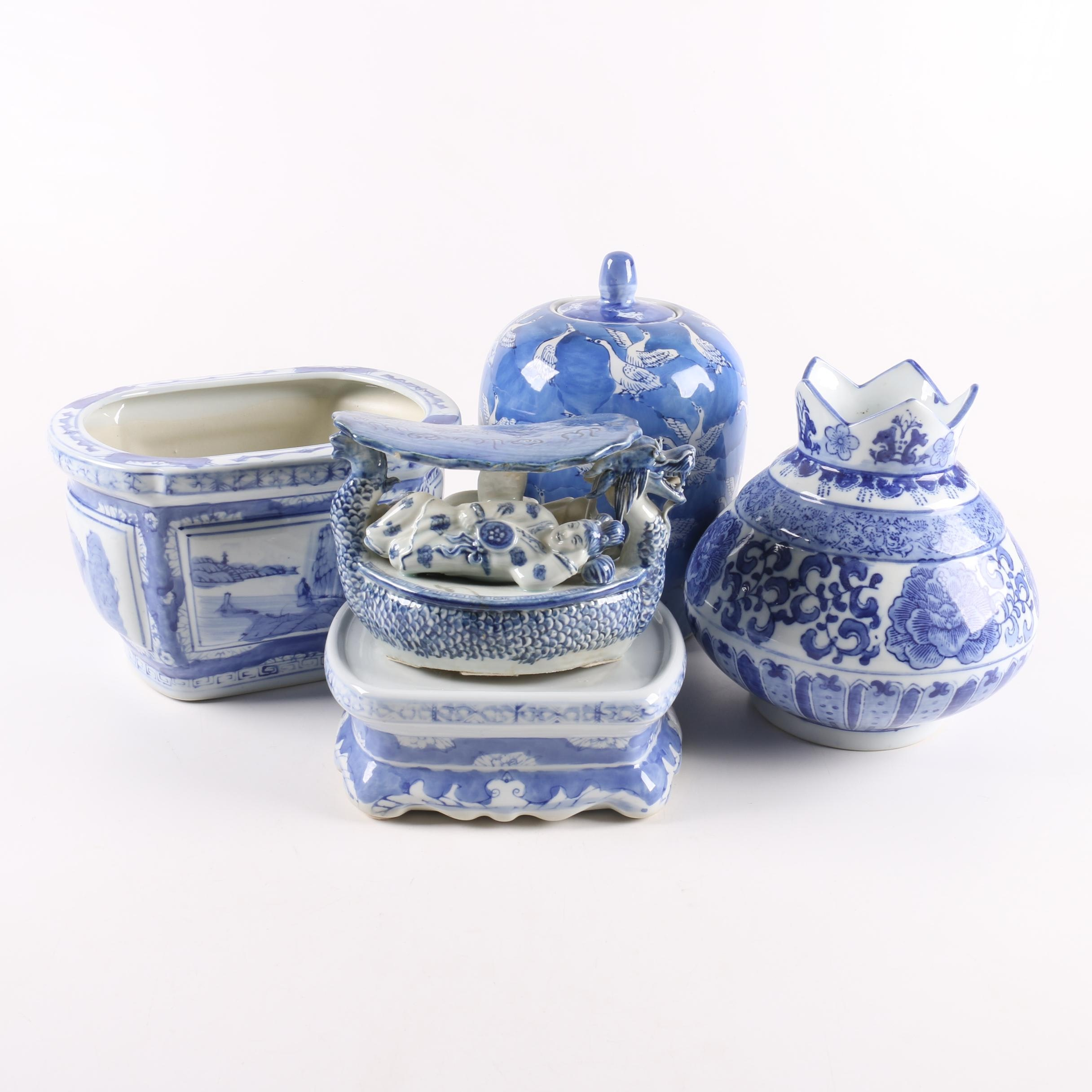 Chinese Blue and White Porcelain Decor