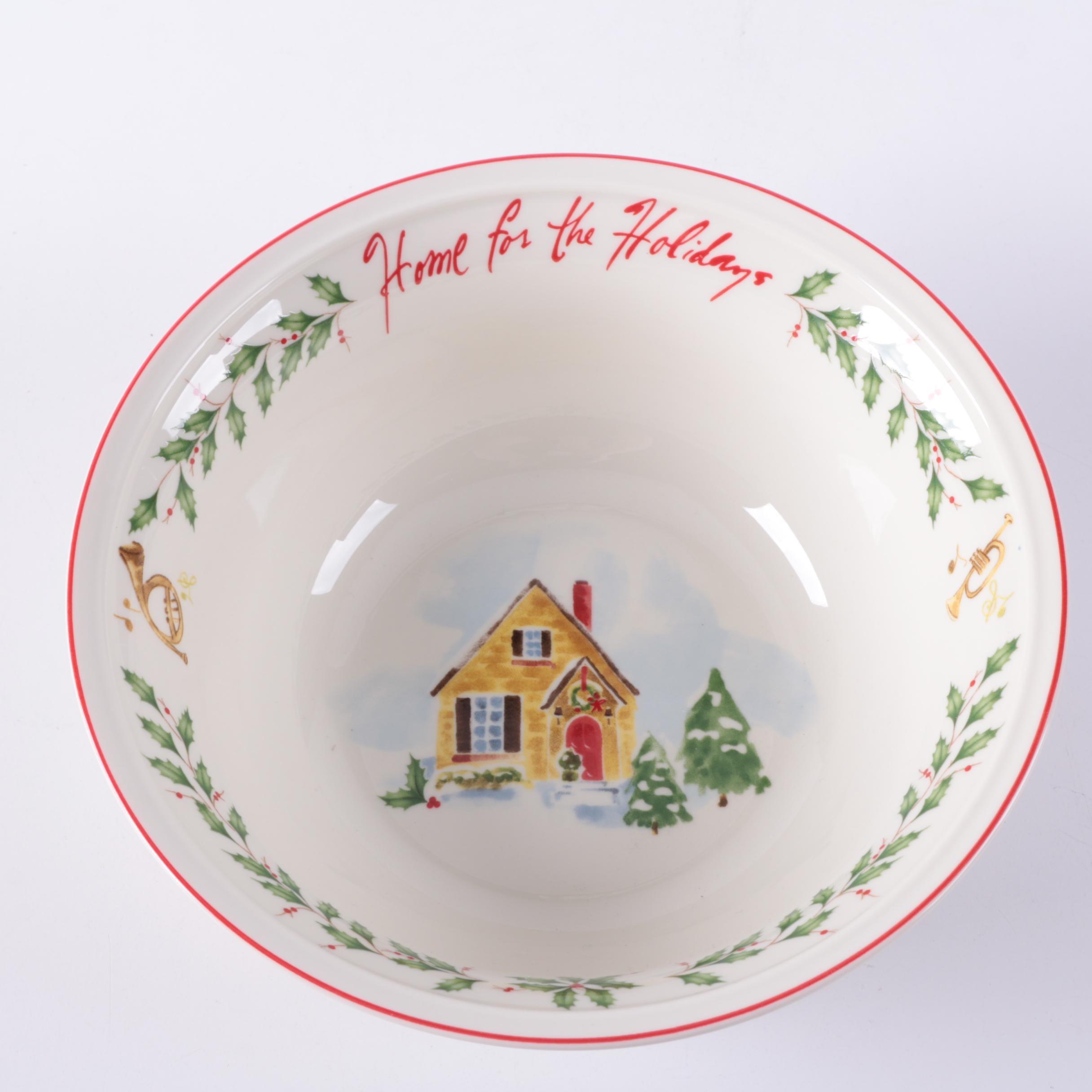 "Lenox ""Holiday Inspirations and Illustrations"" Porcelain Sentiment Bowl"