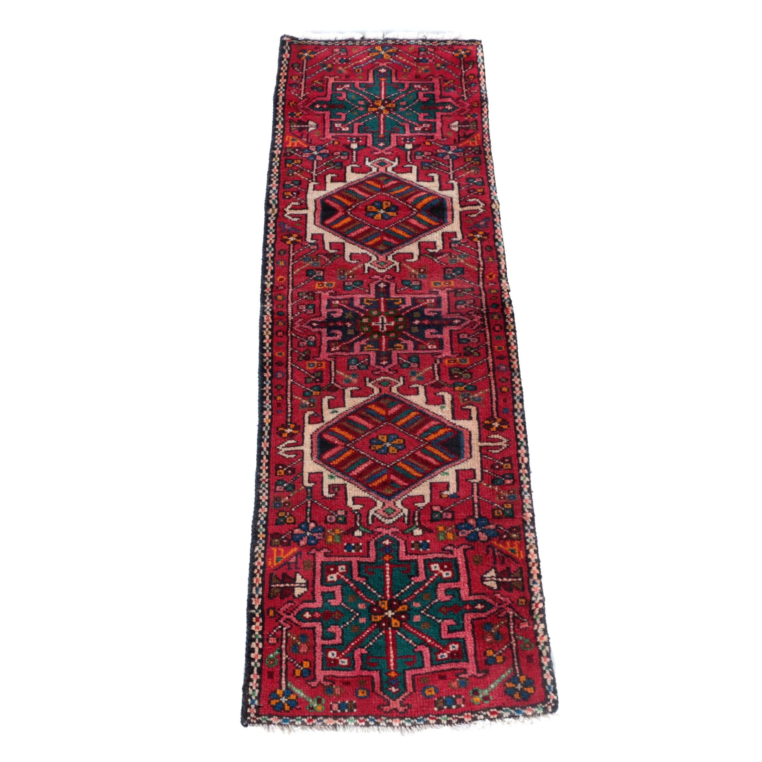 Hand-Knotted Persian Lamberan Carpet Runner