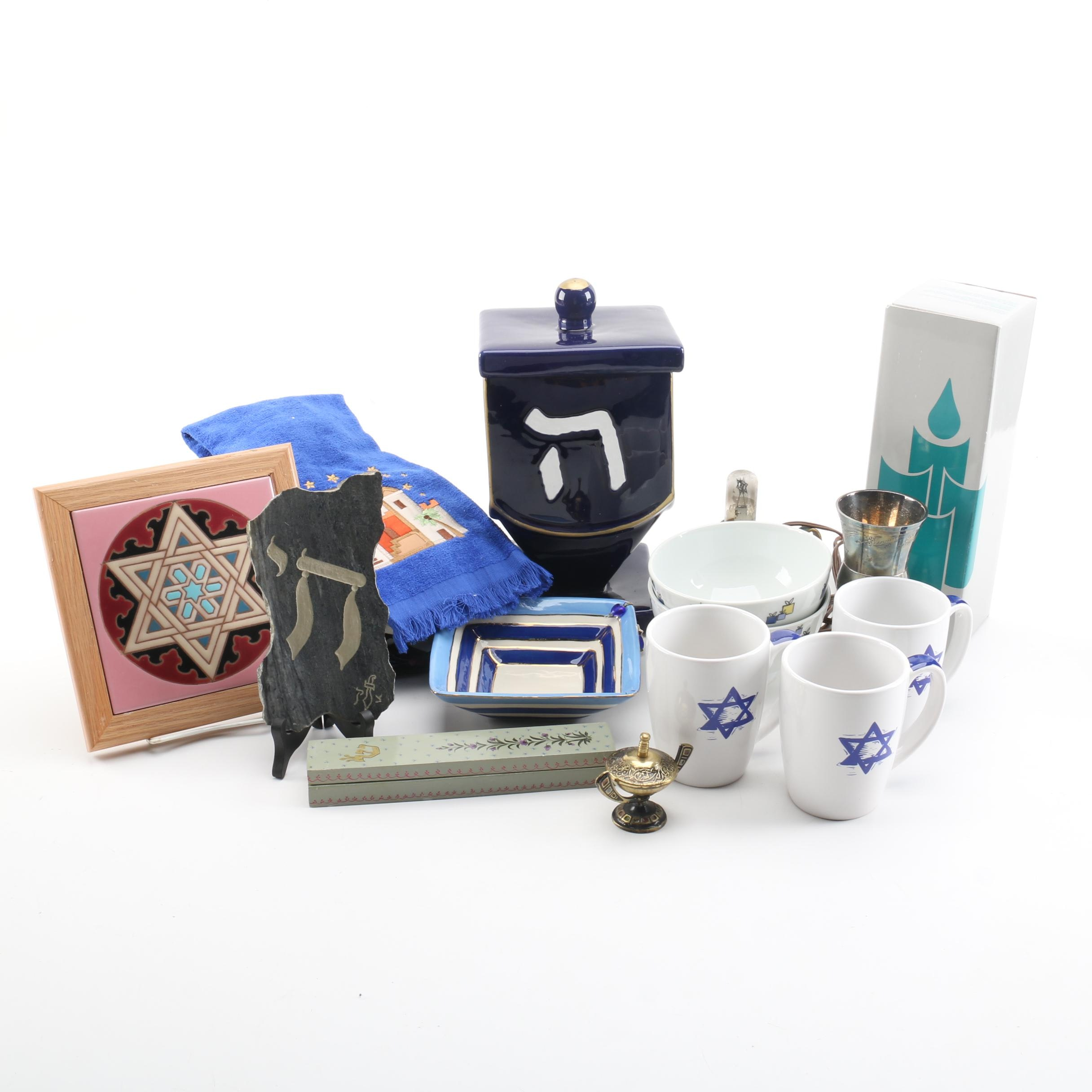 Jewish Dishes and Decorative Items