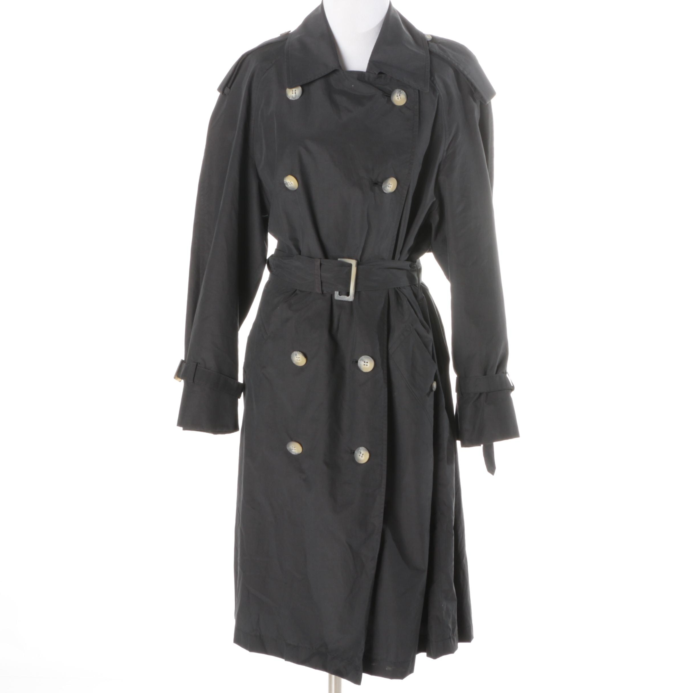 Women's Burberry Prorsum Collection Black Trench Coat
