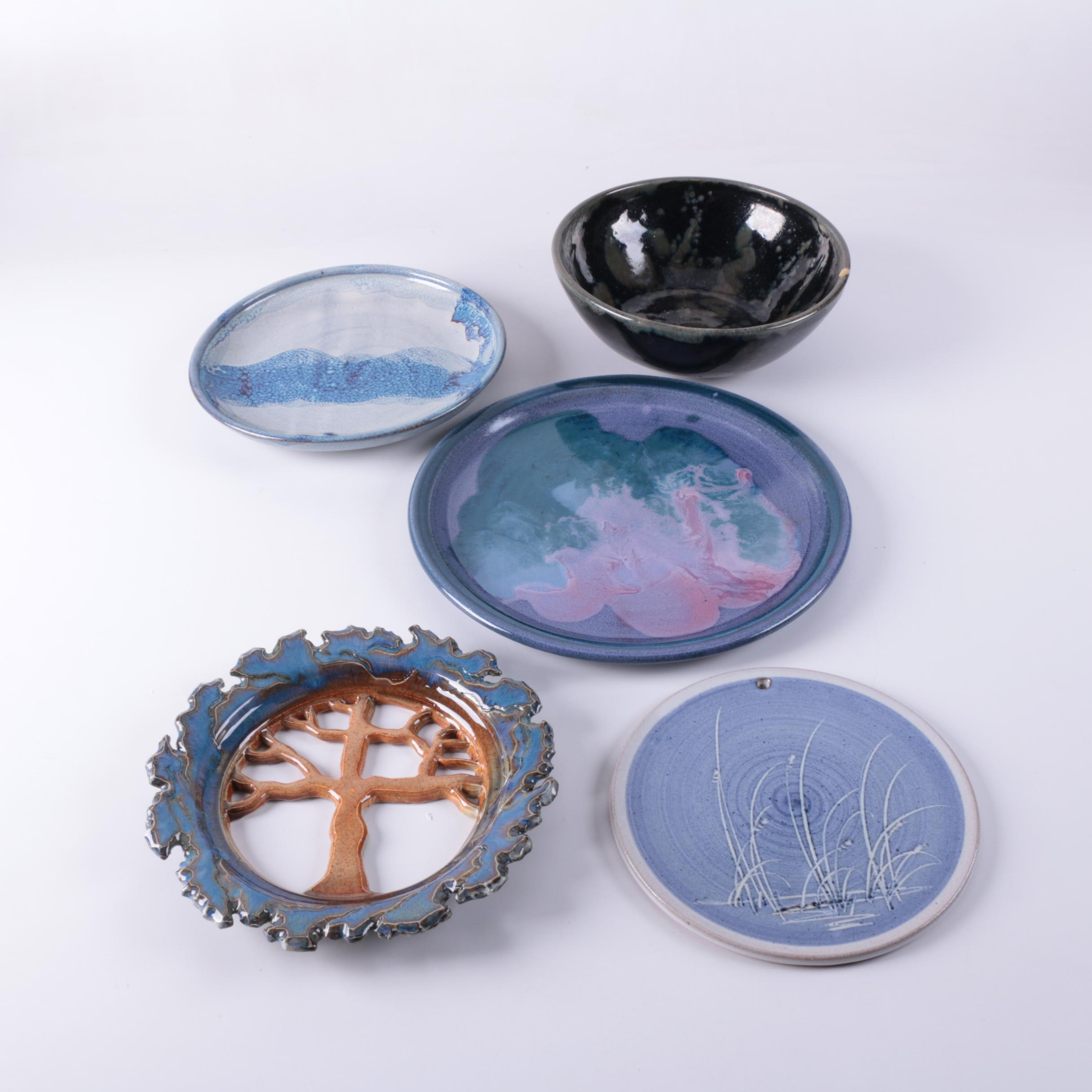 Art Pottery Tableware and Wall Hangings