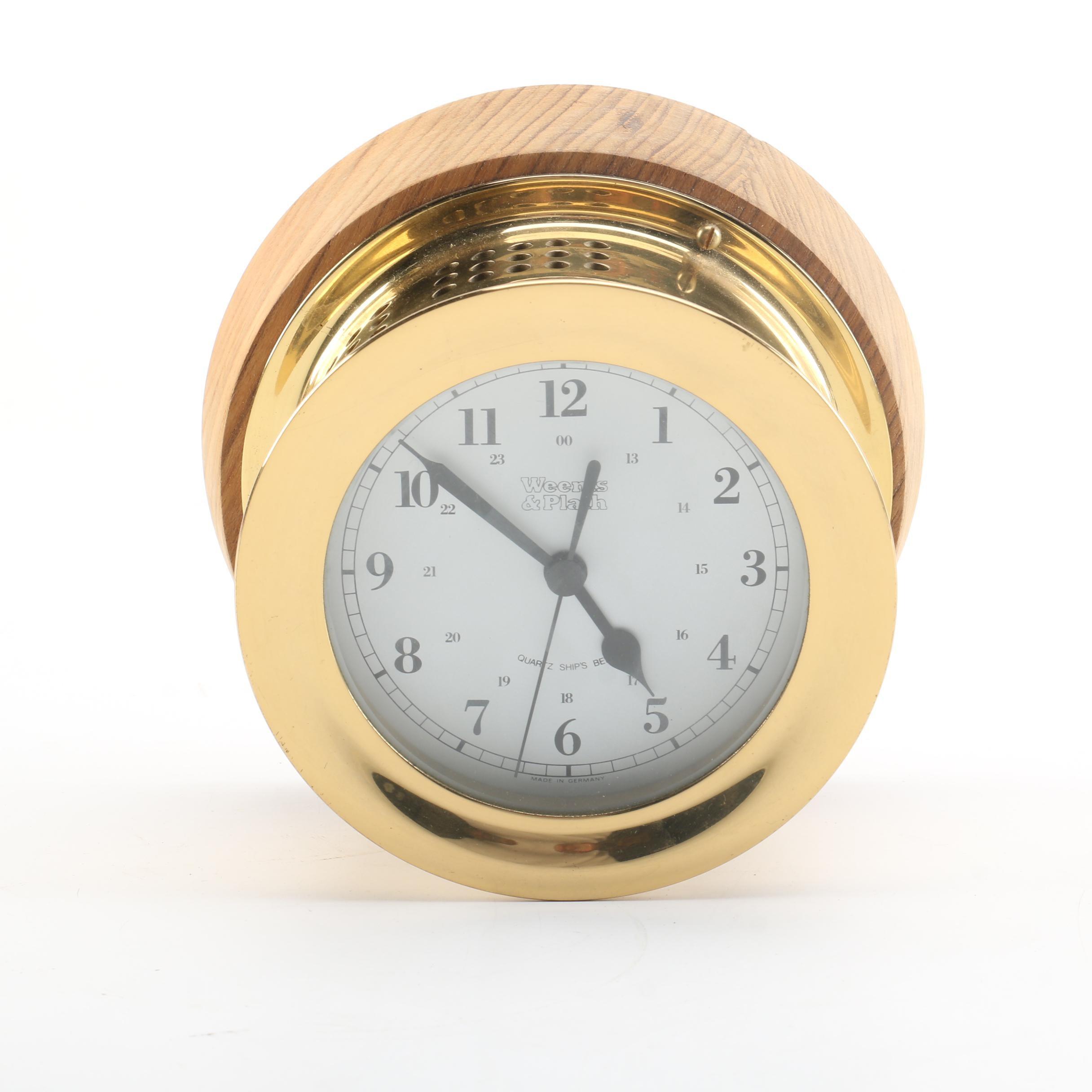 Weems & Plath Quartz Ships Bell Clock