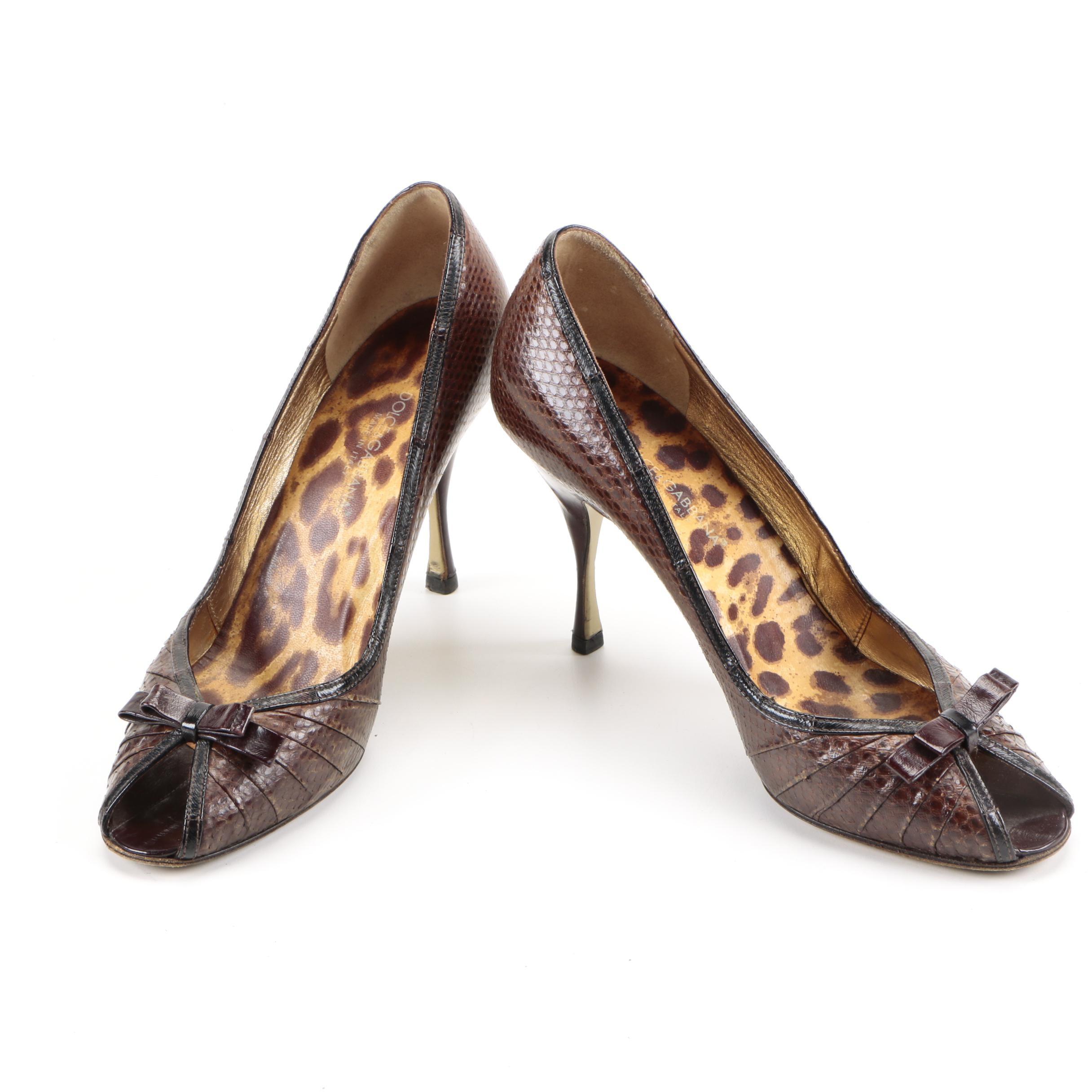 Dolce & Gabbana Snakeskin Heels