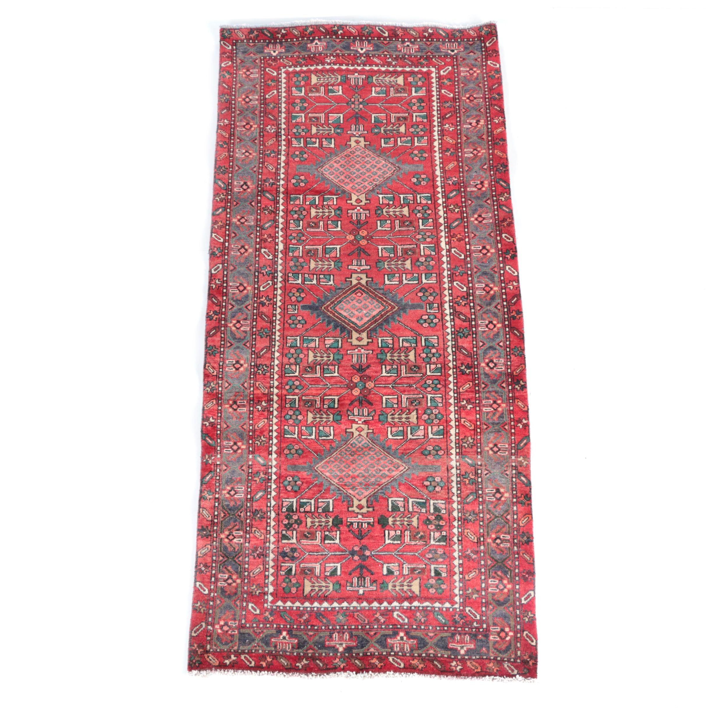 Hand-Knotted Shirvan Kazak Wool Carpet Runner