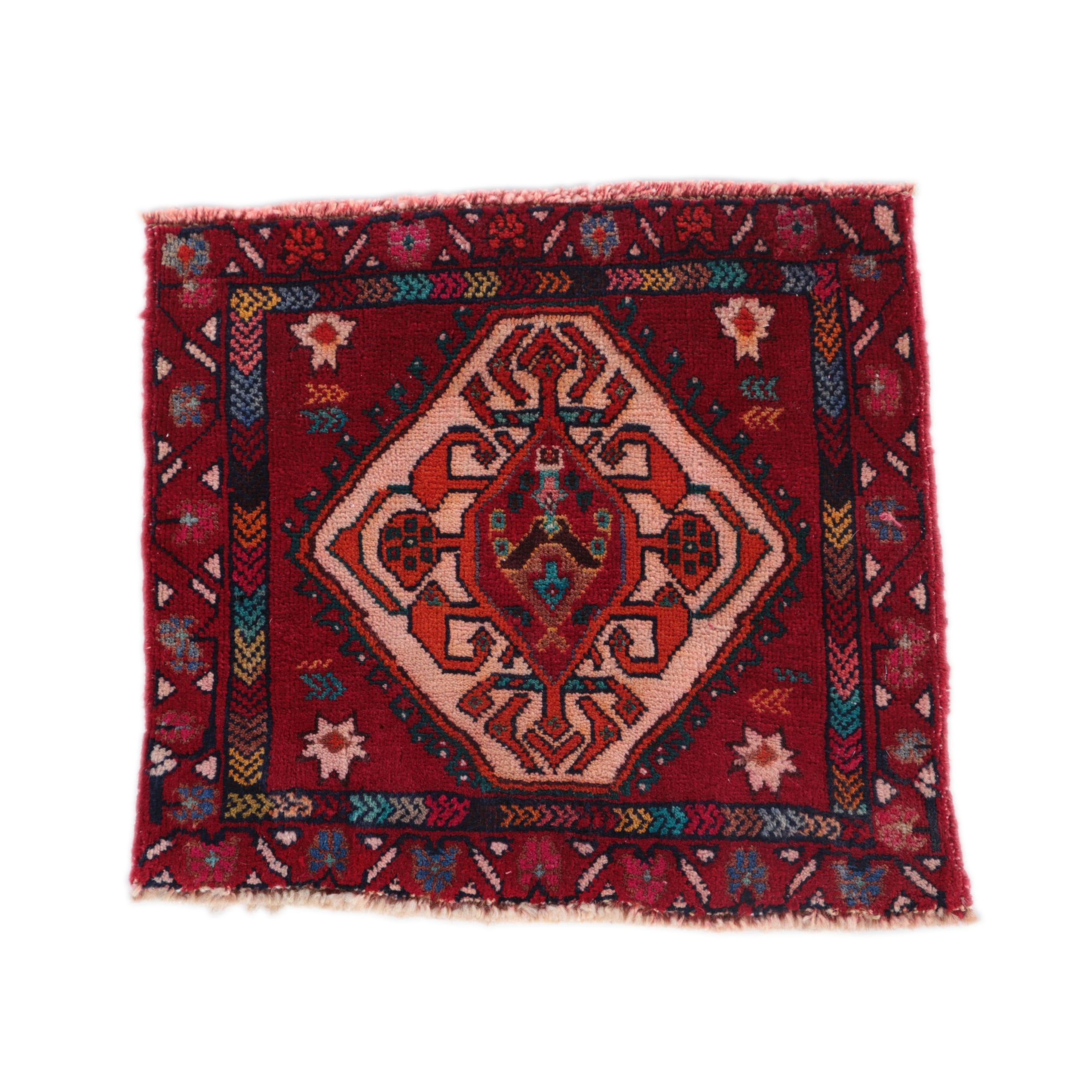 Hand-Knotted Caucasian Tribal Mini-Rug