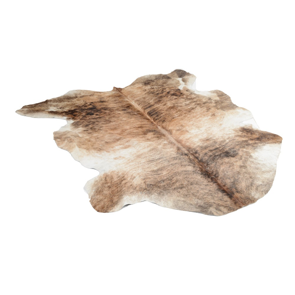 Colombian Brindle Cowhide Rug
