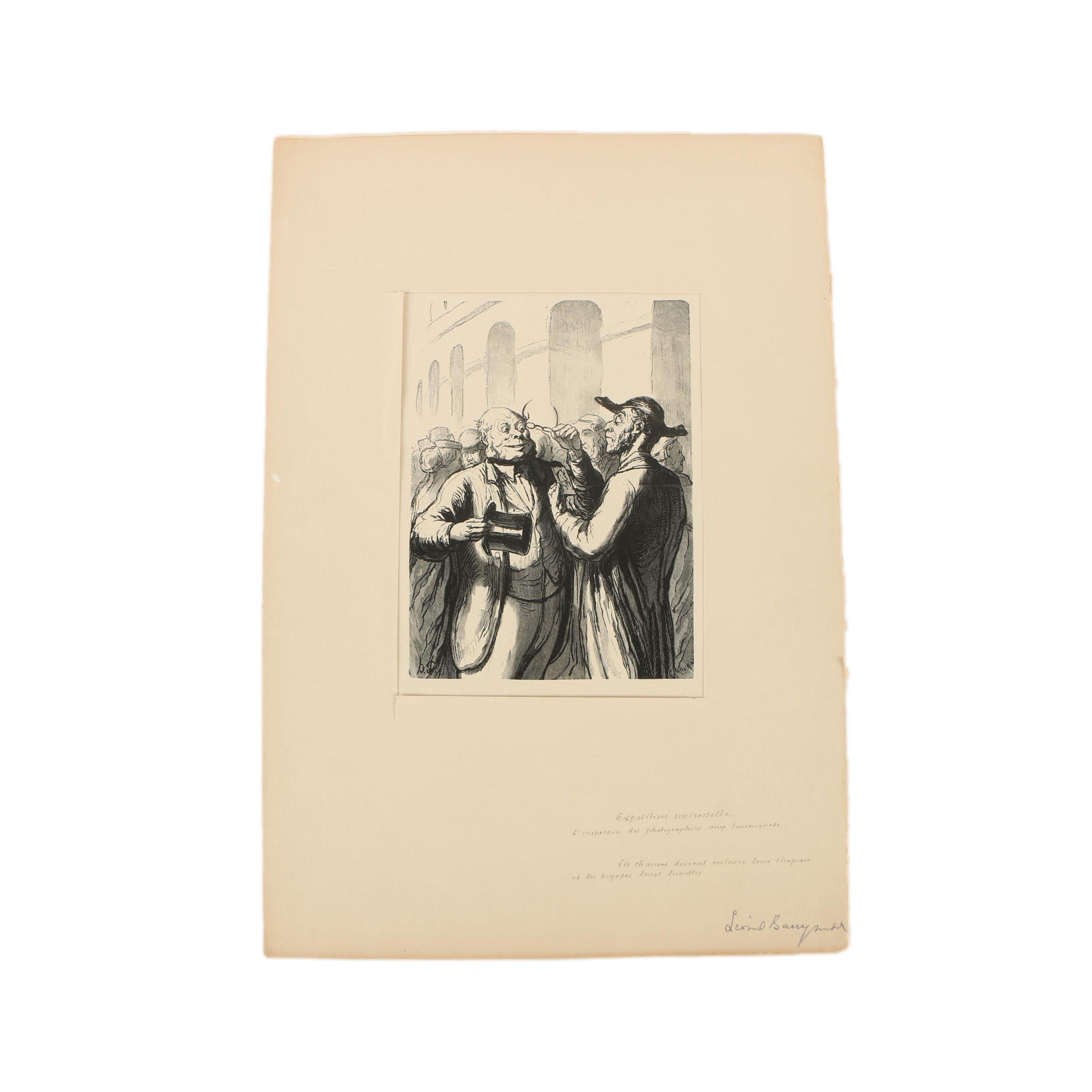 Auguste Lepère Limited Edition Wood Engraving after Honoré Daumier
