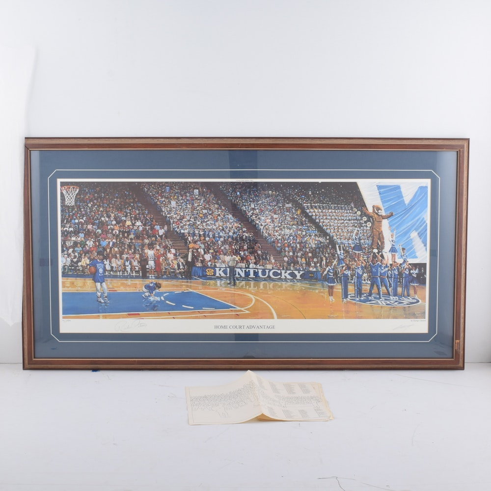 """George Claxton Limited Edition Offset Lithograph """"Home Court Advantage"""""""