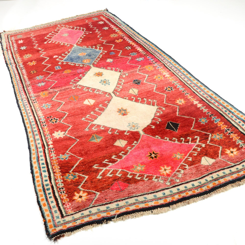Semi-Antique Hand Knotted Persian Shiraz Rug